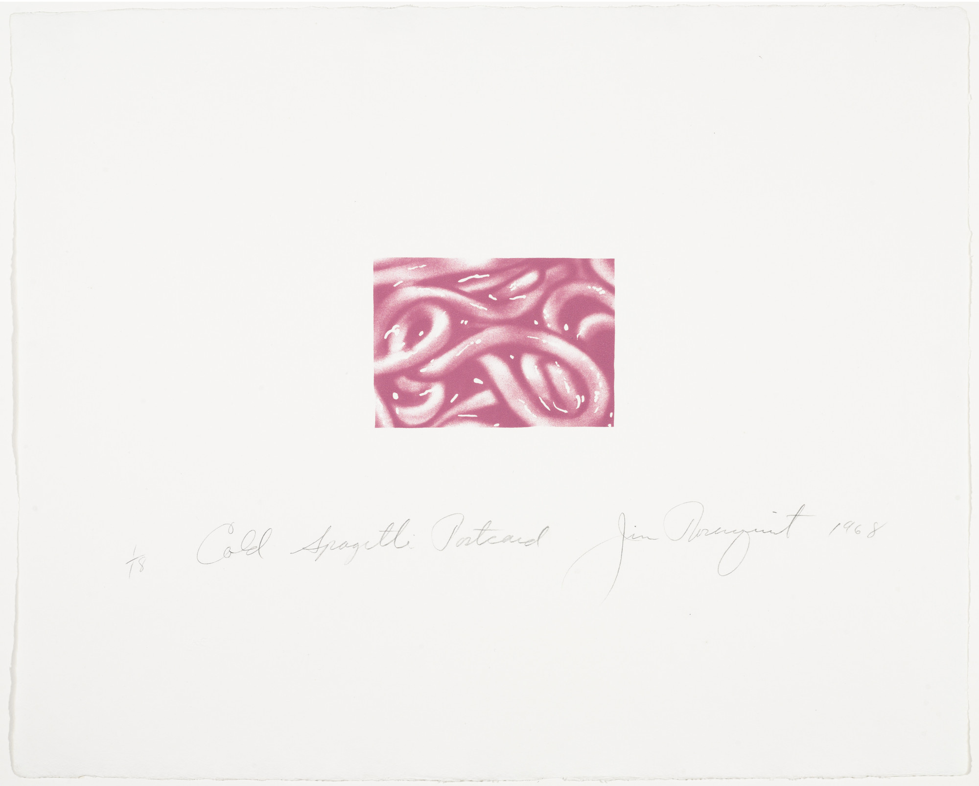 James Rosenquist. Cold Spaghetti Postcard. 1968