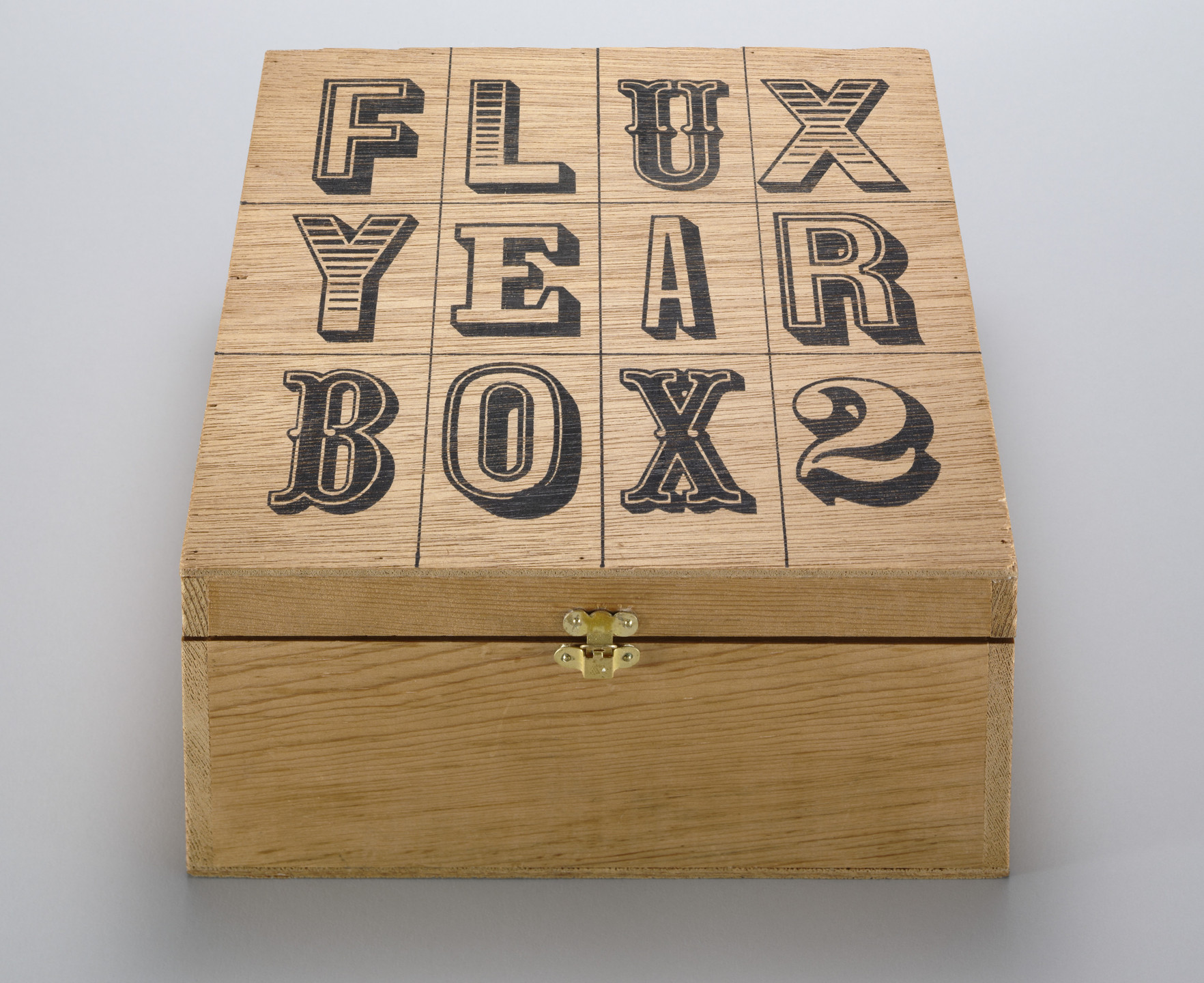 Various Artists, George Brecht, Willem de Ridder, Albert M. Fine, Ken Friedman, Shigeko Kubota, Frederic Lieberman, George Maciunas, Claes Oldenburg, Benjamin Patterson, James Riddle, Paul Sharits, Bob Sheff, Ben Vautier, Robert Watts. Flux Year Box 2. c. 1968