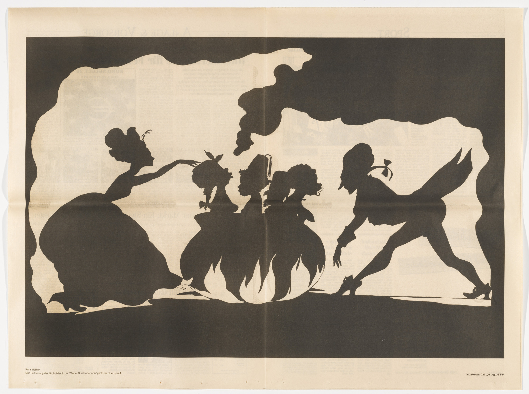 Kara Walker. Untitled from the Museum in Progress project Safety Curtain. published 1999