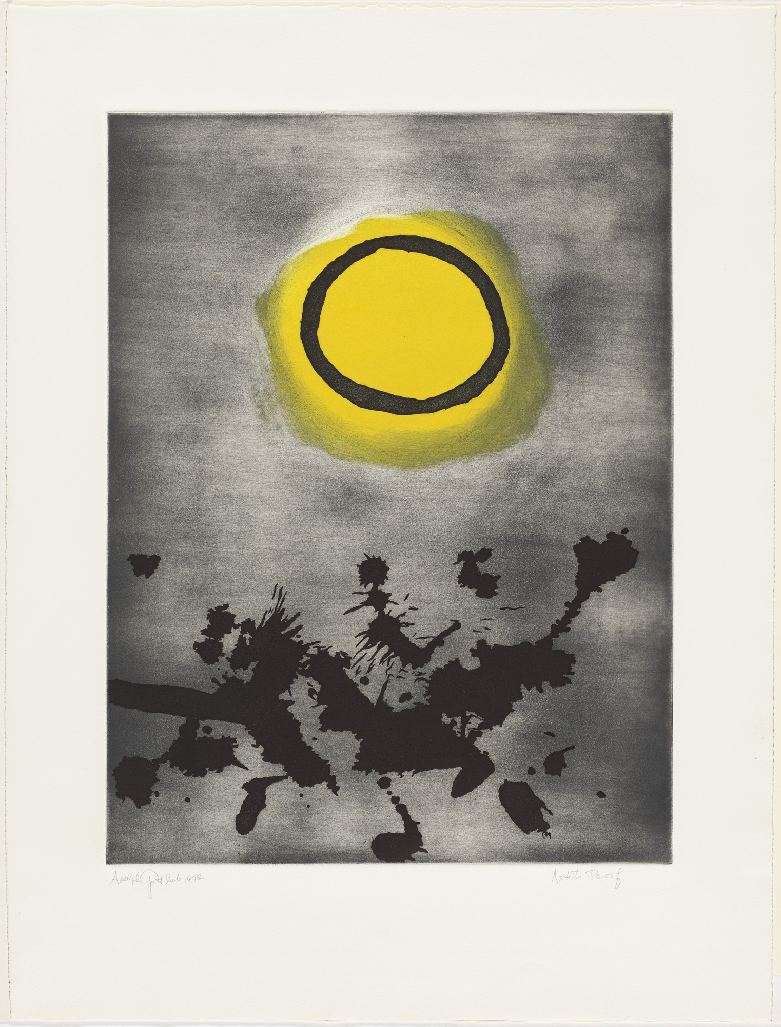 Adolph Gottlieb. Untitled from Prints for Phoenix House. 1972