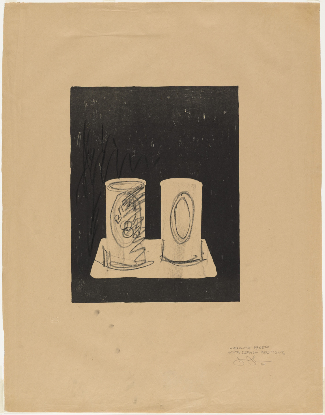 Jasper Johns. Ale Cans. 1964