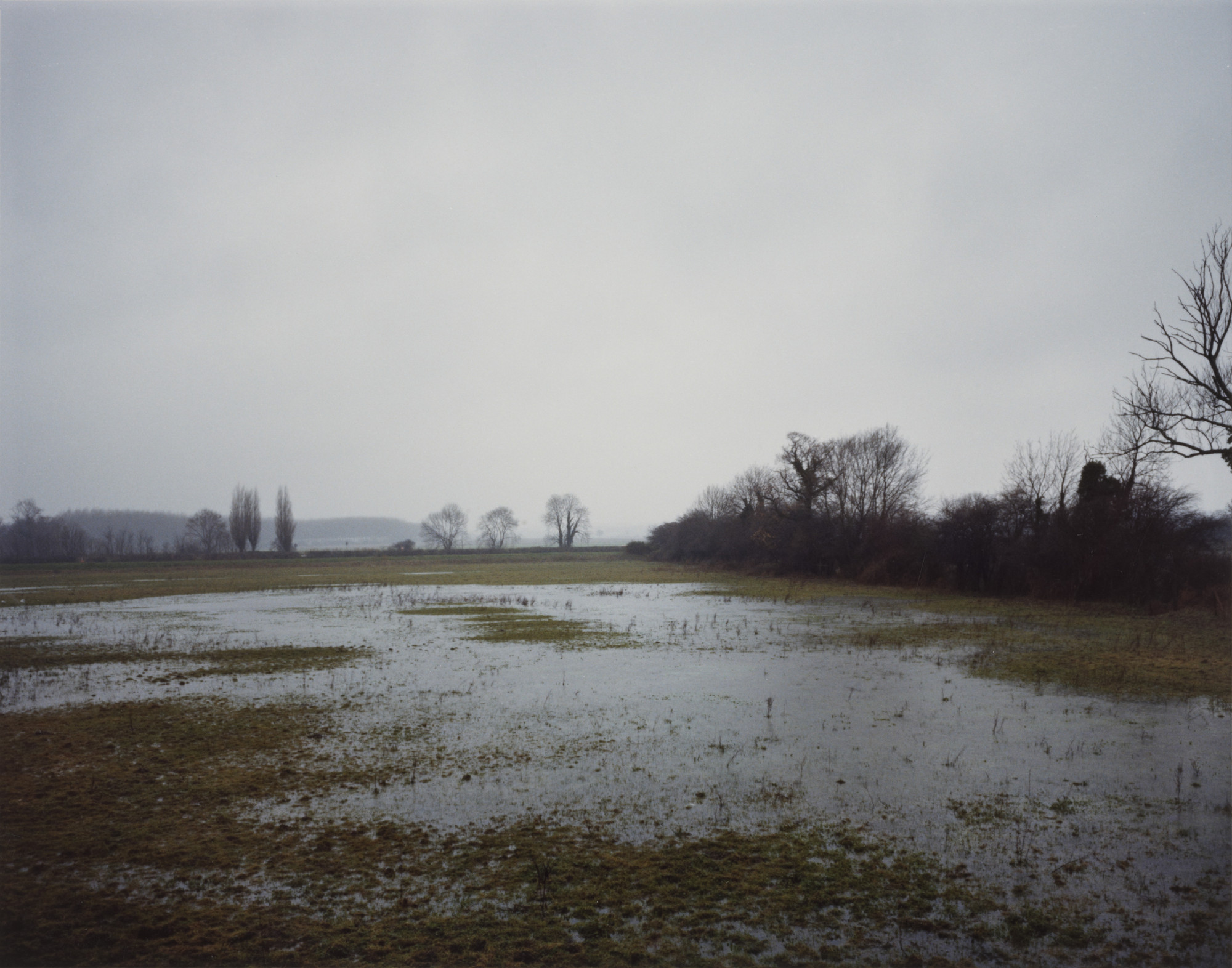 Paul Graham. Flooded Fields, Bedfordshire from the portfolio A1: The Great North Road. June 1982