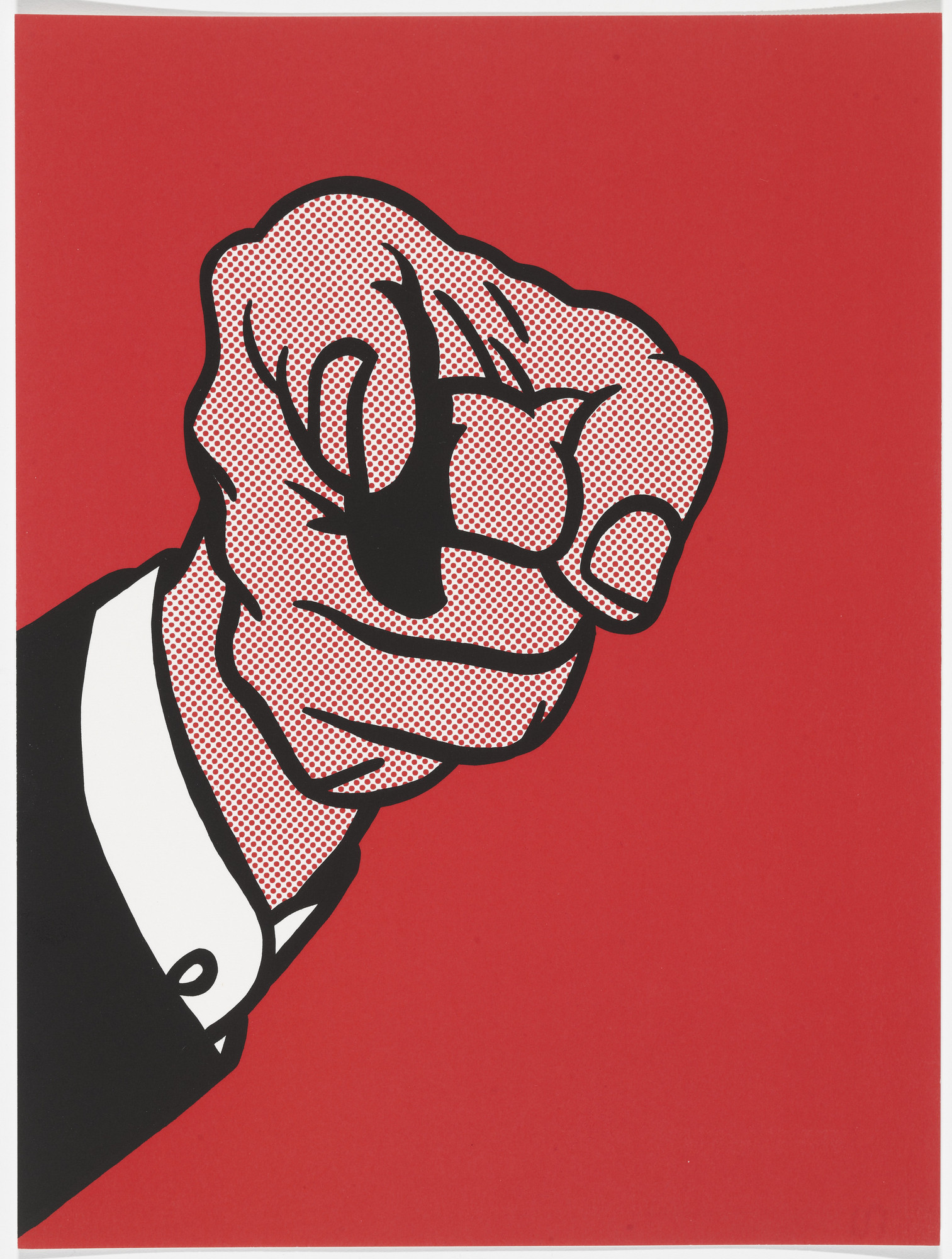 Roy Lichtenstein. Finger Pointing from The New York Collection for Stockholm. 1973