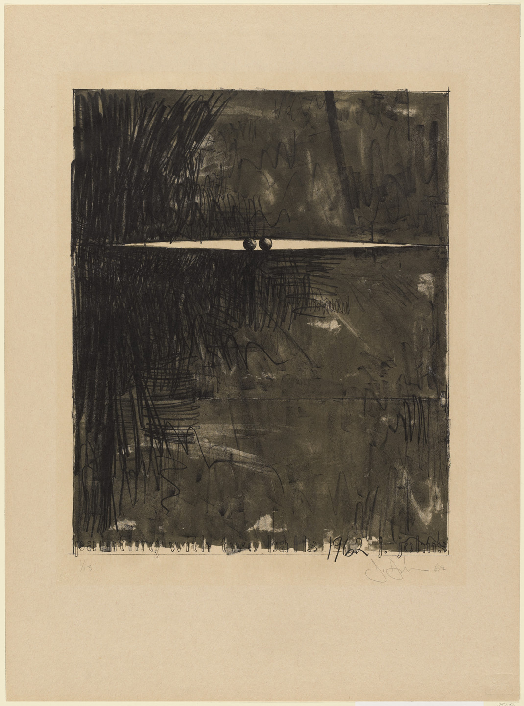 Jasper Johns. Painting with Two Balls II. 1962