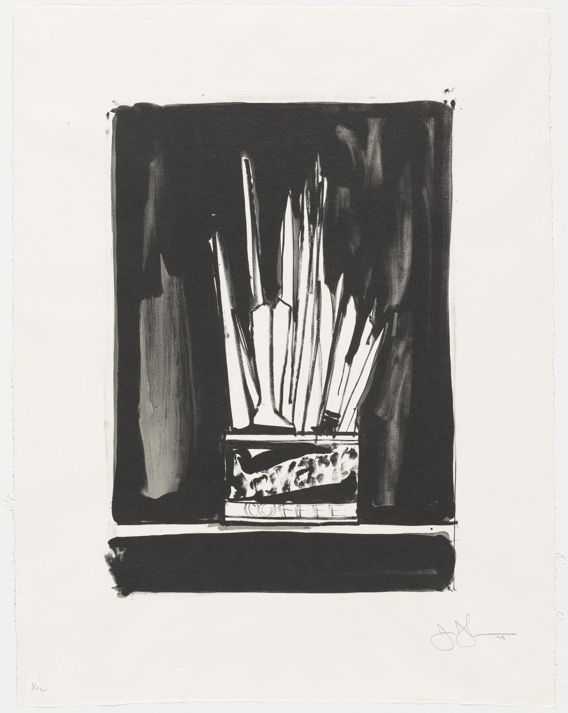 Jasper Johns. Savarin 2 (Wash and Line). 1978