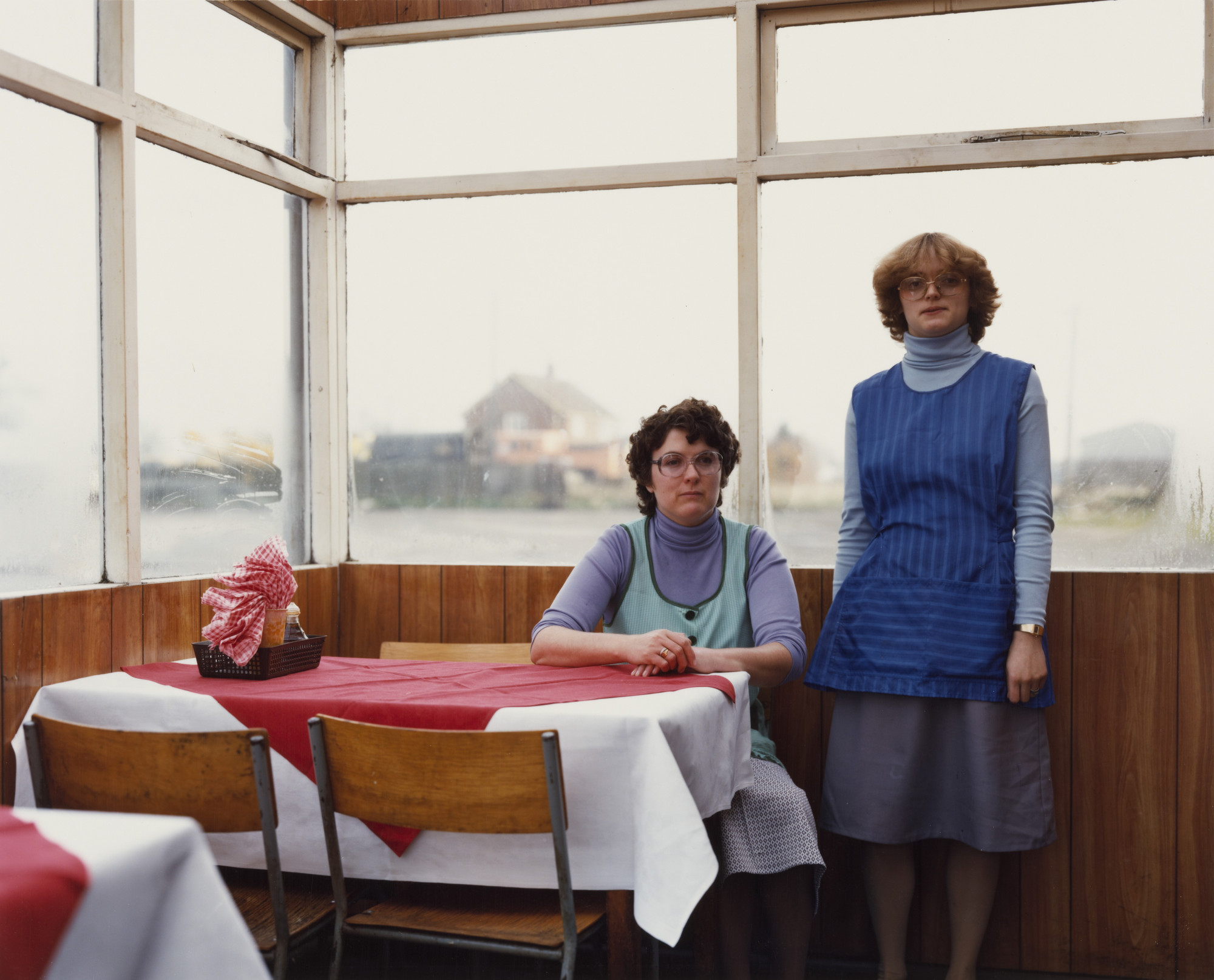 Paul Graham. Cafe Assistants, Compass Cafe, Colsterworth, Lincolnshire from the portfolio A1: The Great North Road. November 1982