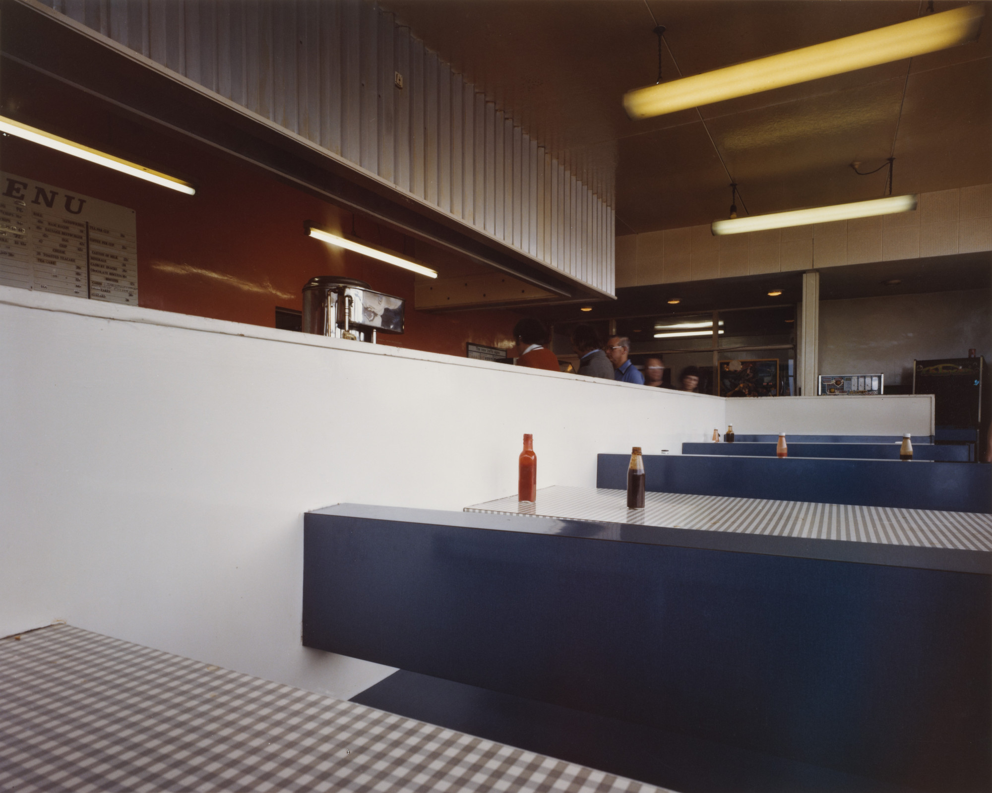 Paul Graham. Interior, Blyth Services, Blyth, Nottinghamshire from the portfolio A1: The Great North Road. June 1981
