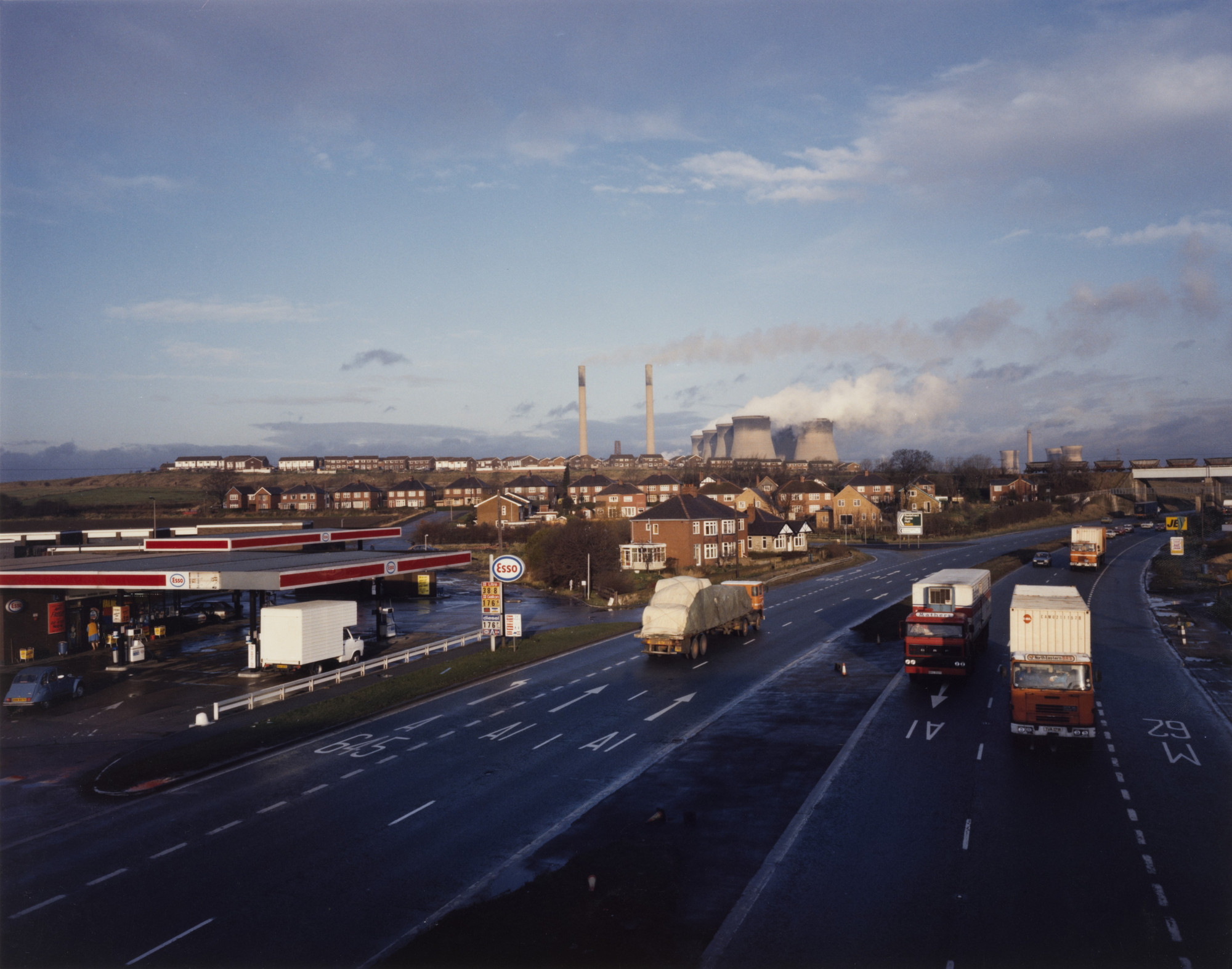 Paul Graham. Ferrybridge Powerstation, West Yorkshire from the portfolio A1: The Great North Road. November 1982