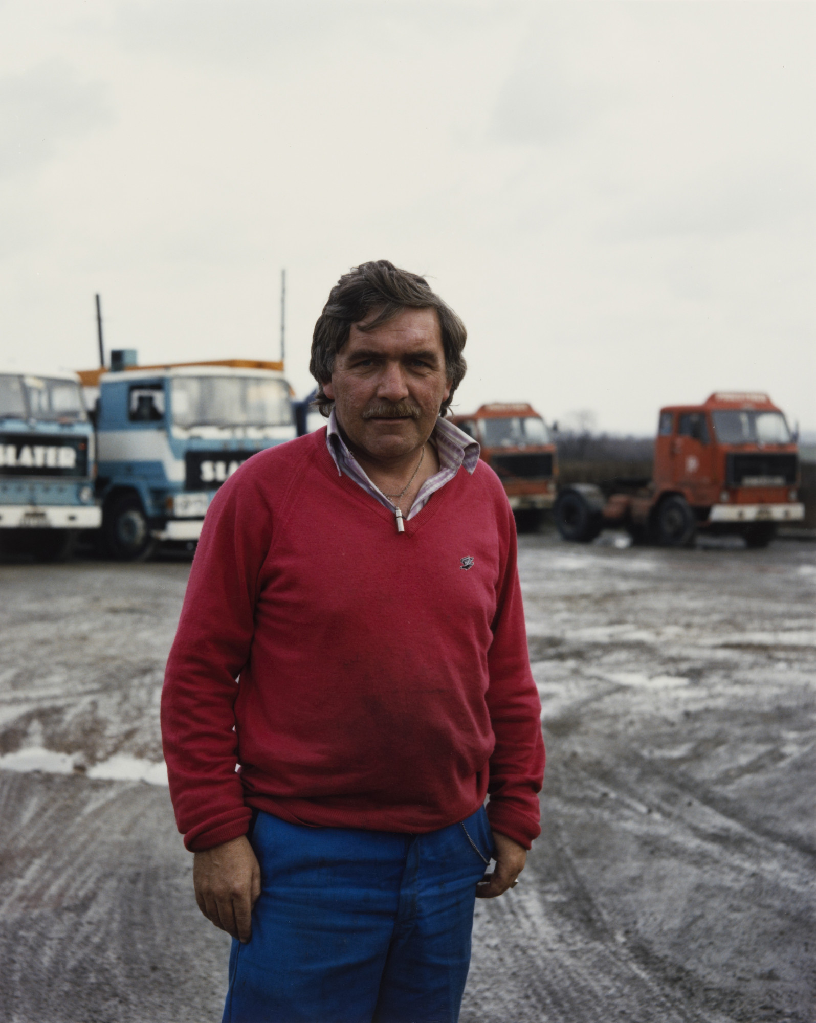 Paul Graham. Driver, Hillcrest Cafe, Selby Fork, North Yorkshire from the portfolio A1: The Great North Road. August 1981