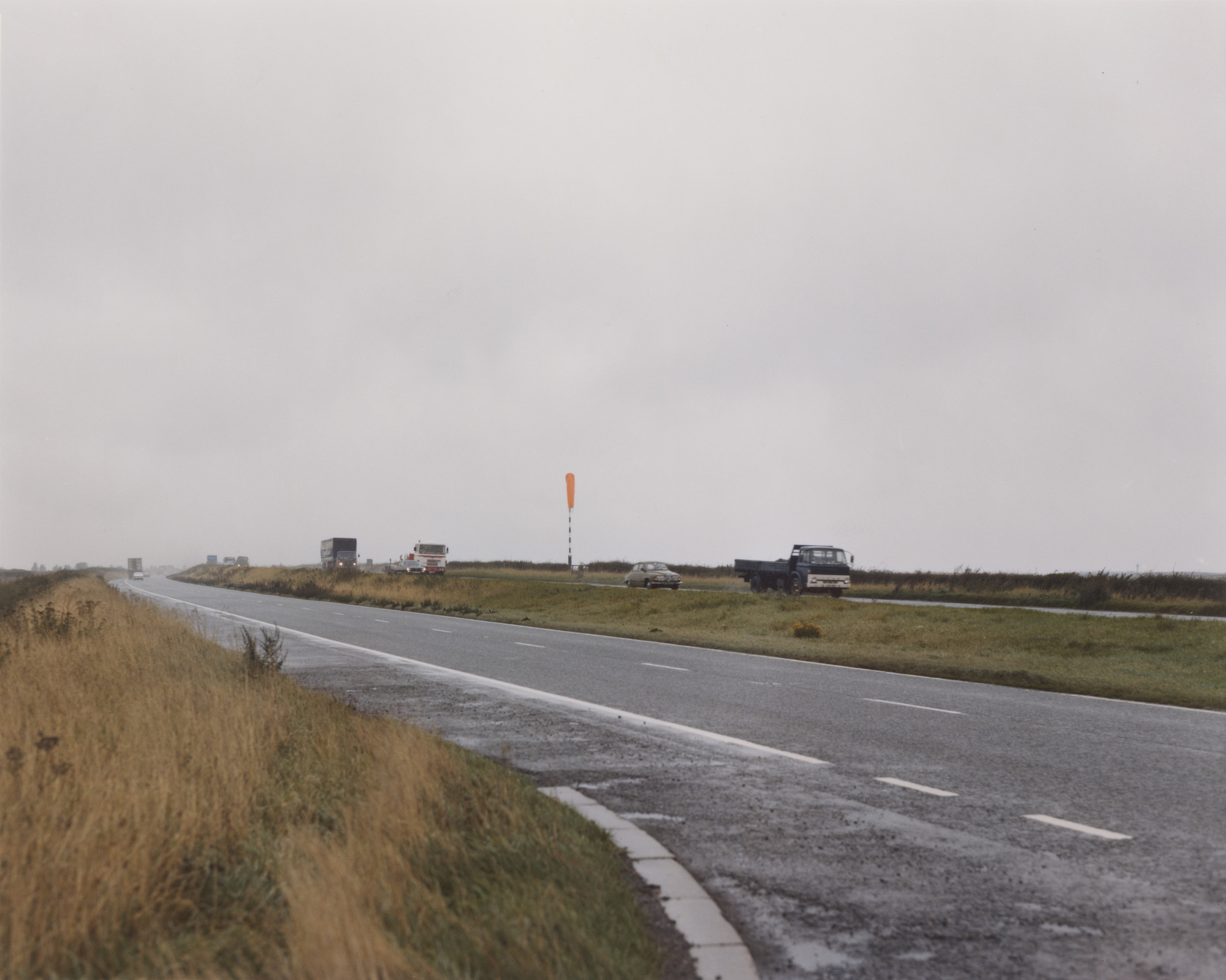 Paul Graham. Windsock in Rain, North Yorkshire from the portfolio A1: The Great North Road. November 1981