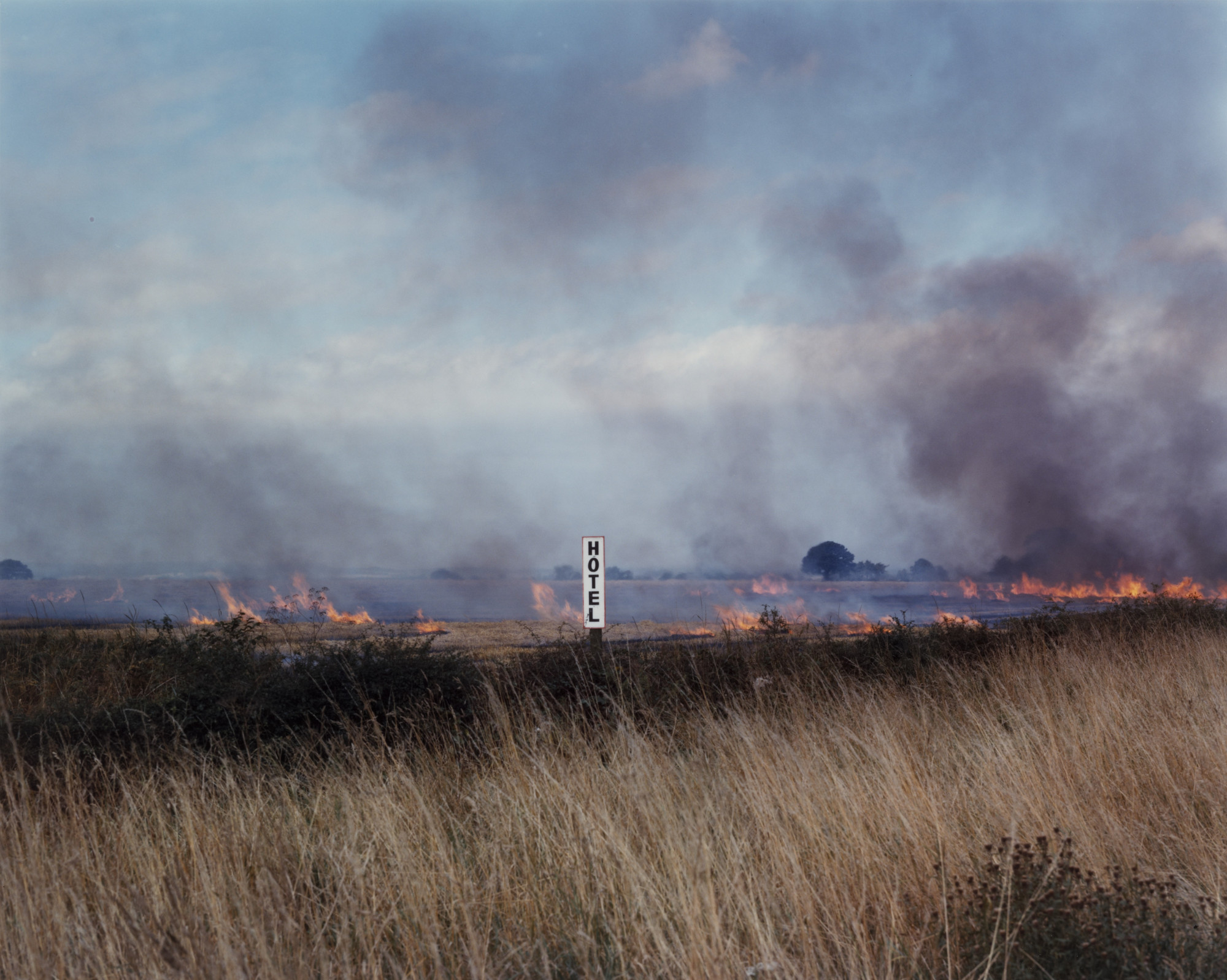 Paul Graham. Burning Fields, Melmerby, North Yorkshire. September 1981