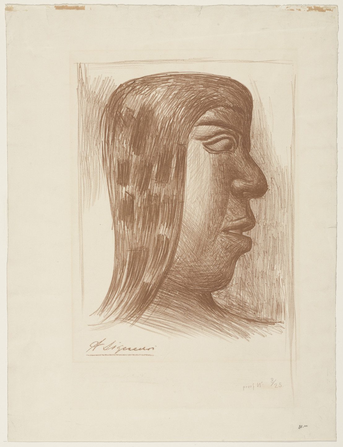 David Alfaro Siqueiros. Head of an Indian. (n.d.)