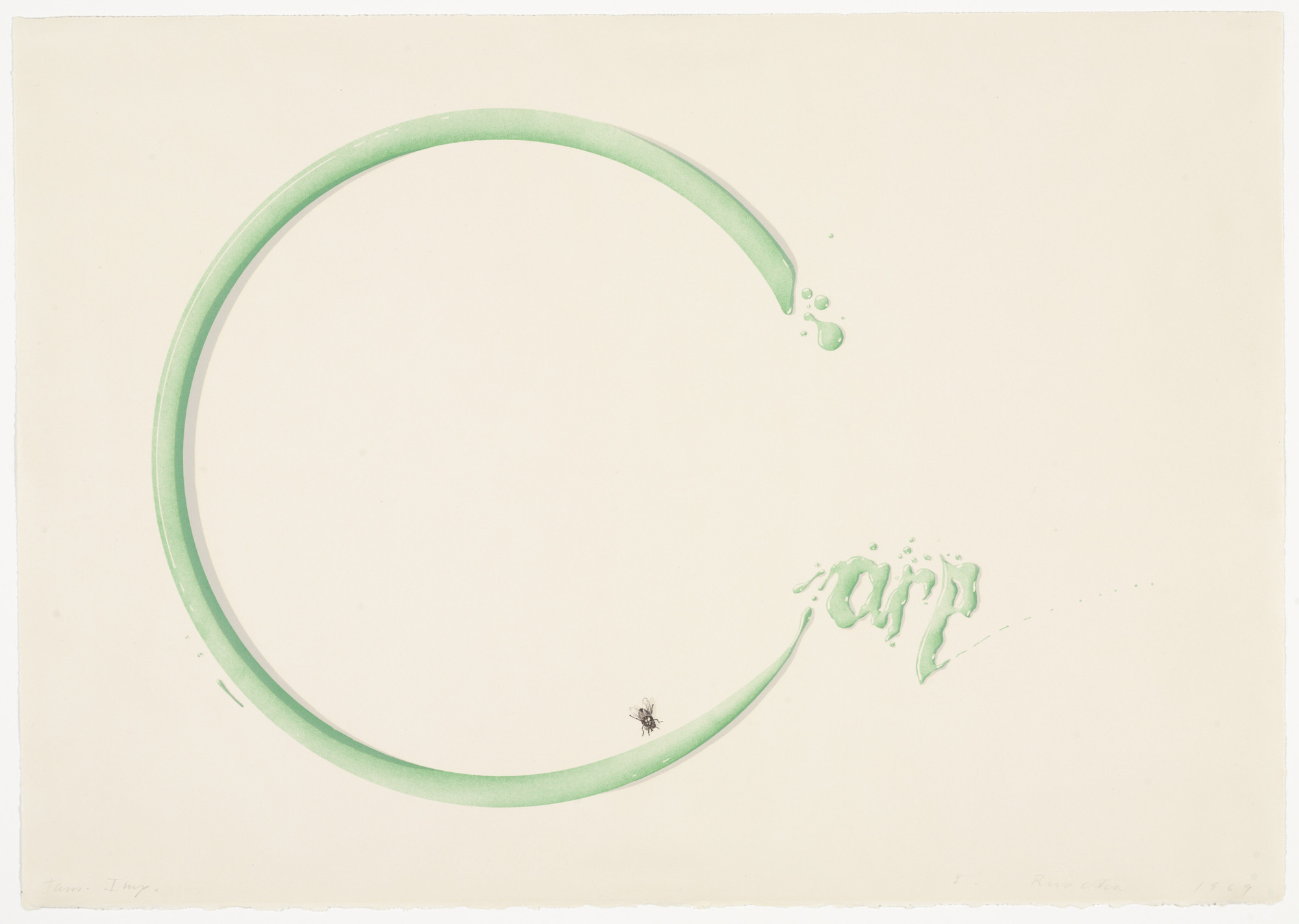 Edward Ruscha. Carp with Shadow and Fly. (January 14-23) 1969