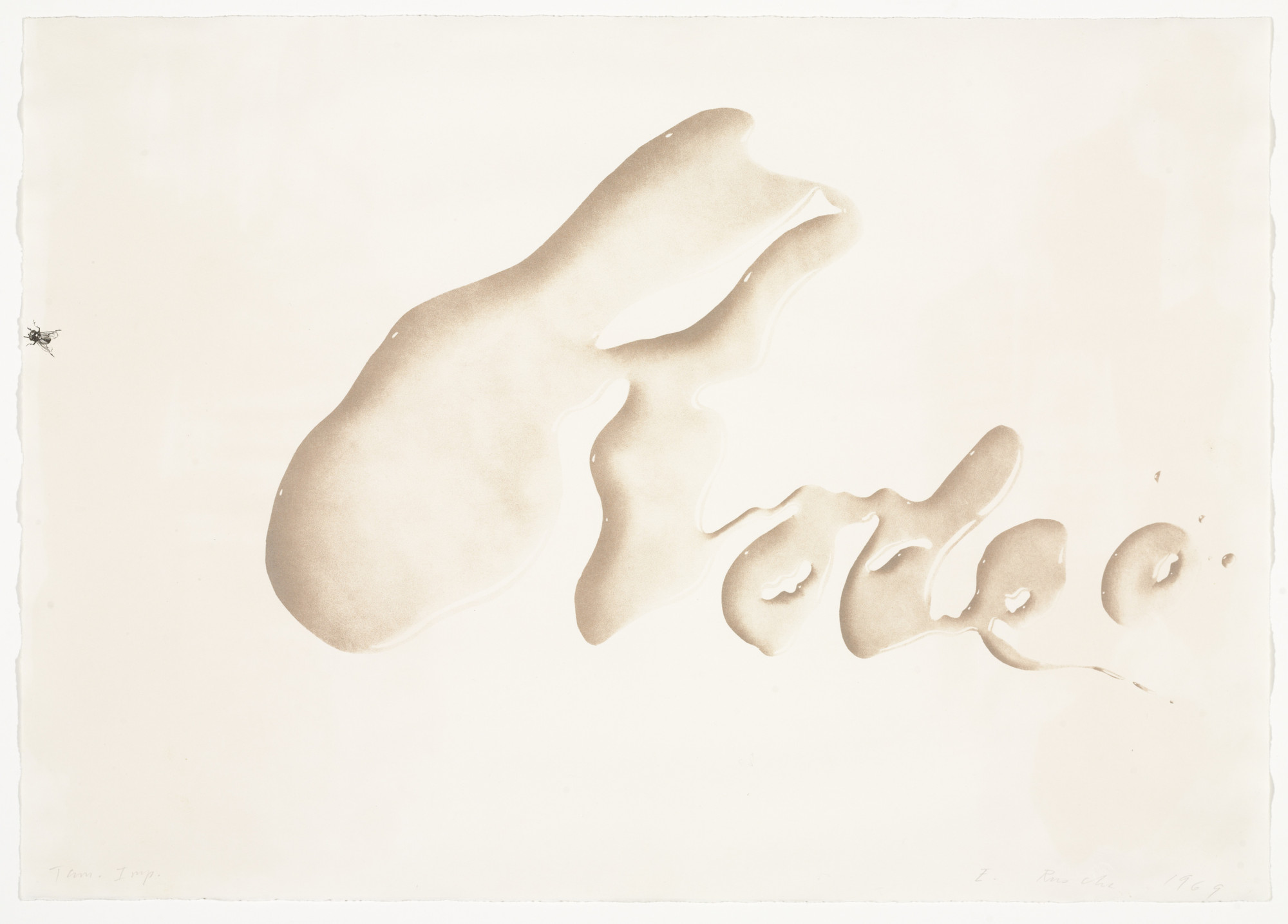 Edward Ruscha. Rodeo. (January 22-24) 1969