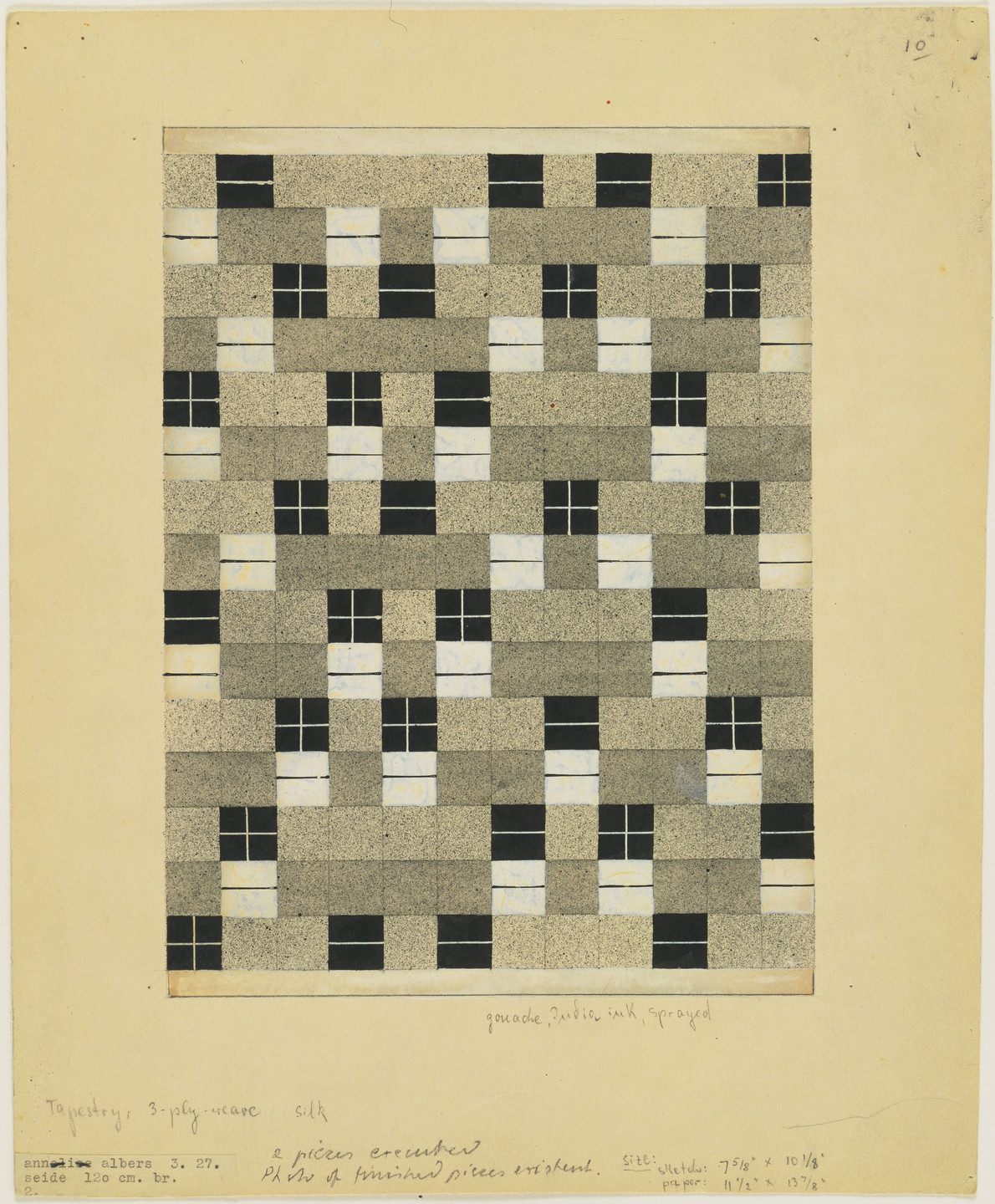 Anni Albers. Design for Wall Hanging. 1927