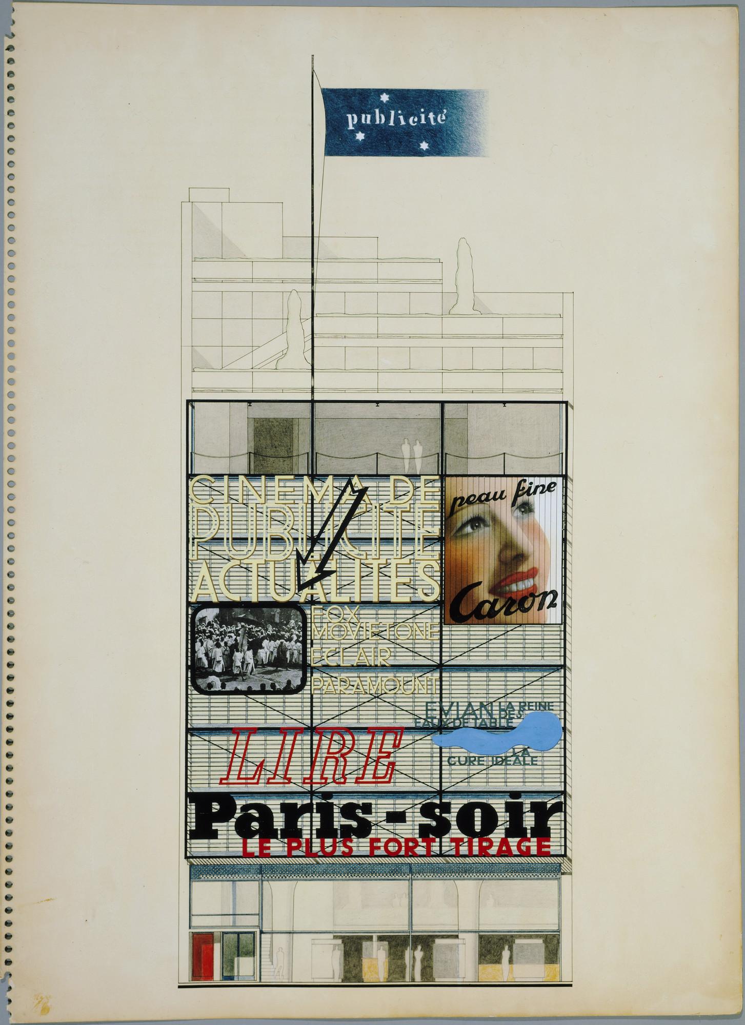Oscar nitzchke maison de la publicité project paris france elevation 1934 36