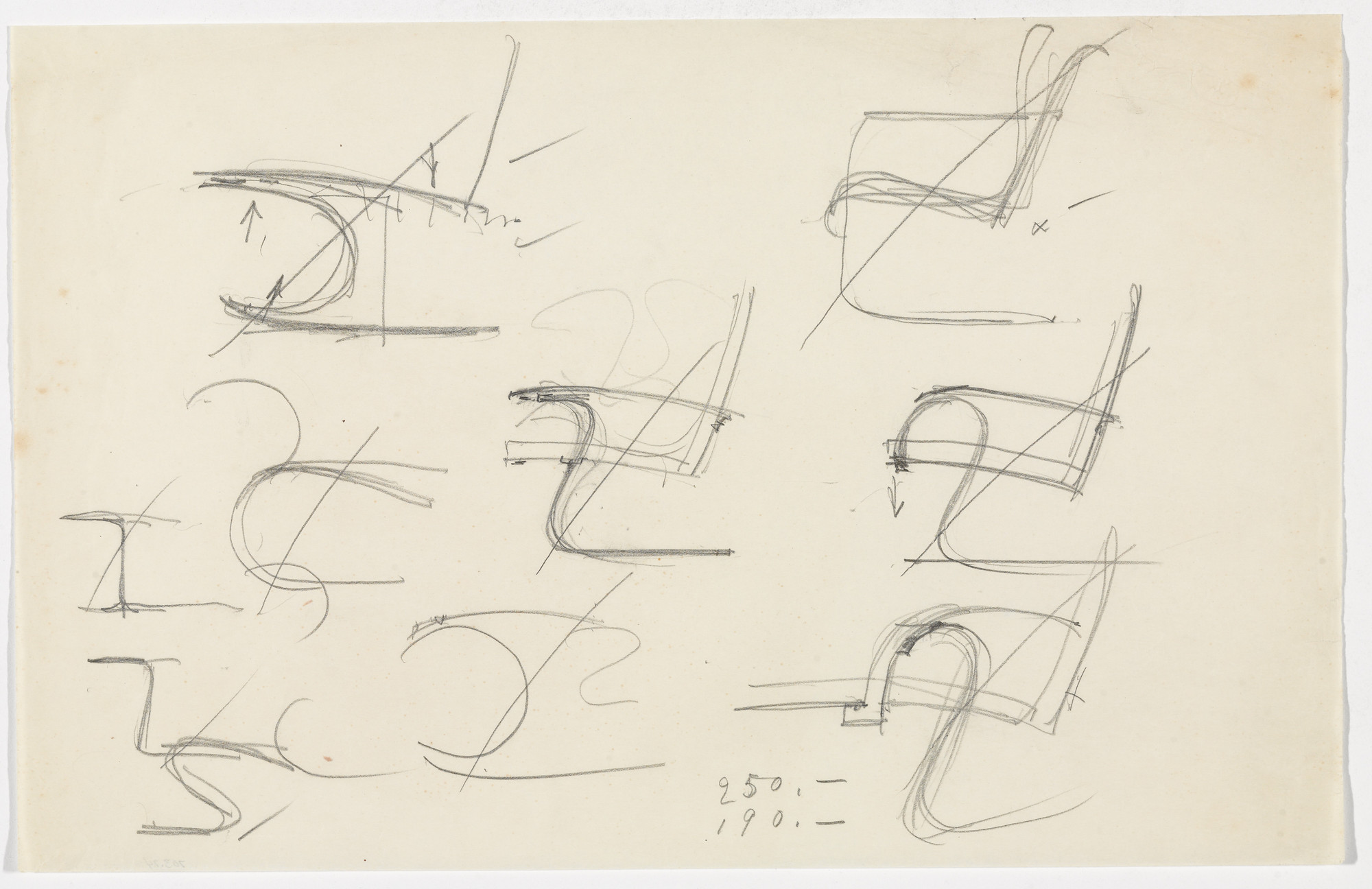 Ludwig Mies van der Rohe  Chair with Arms (Elevation