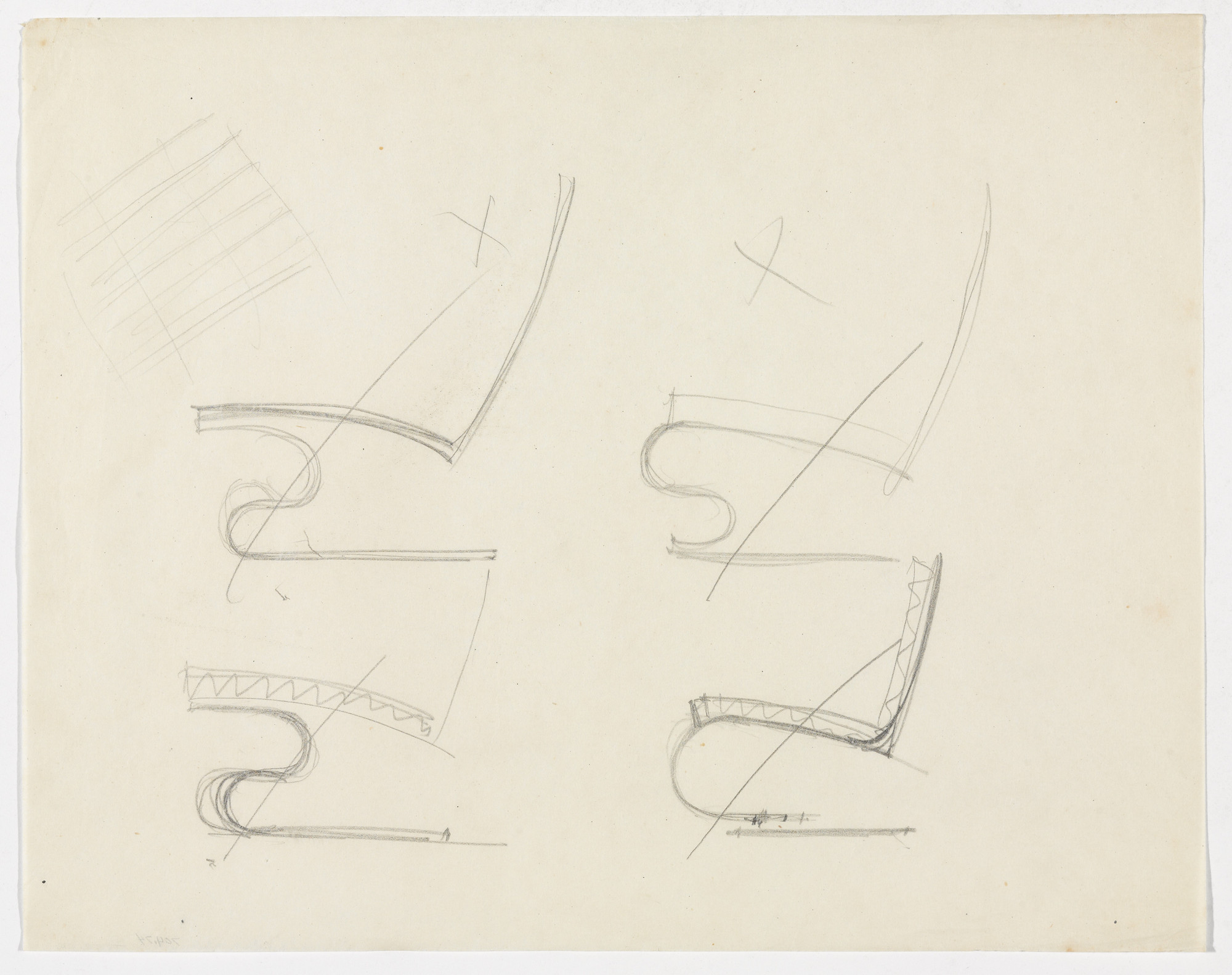 Ludwig Mies van der Rohe  Chair without Arms (Elevation