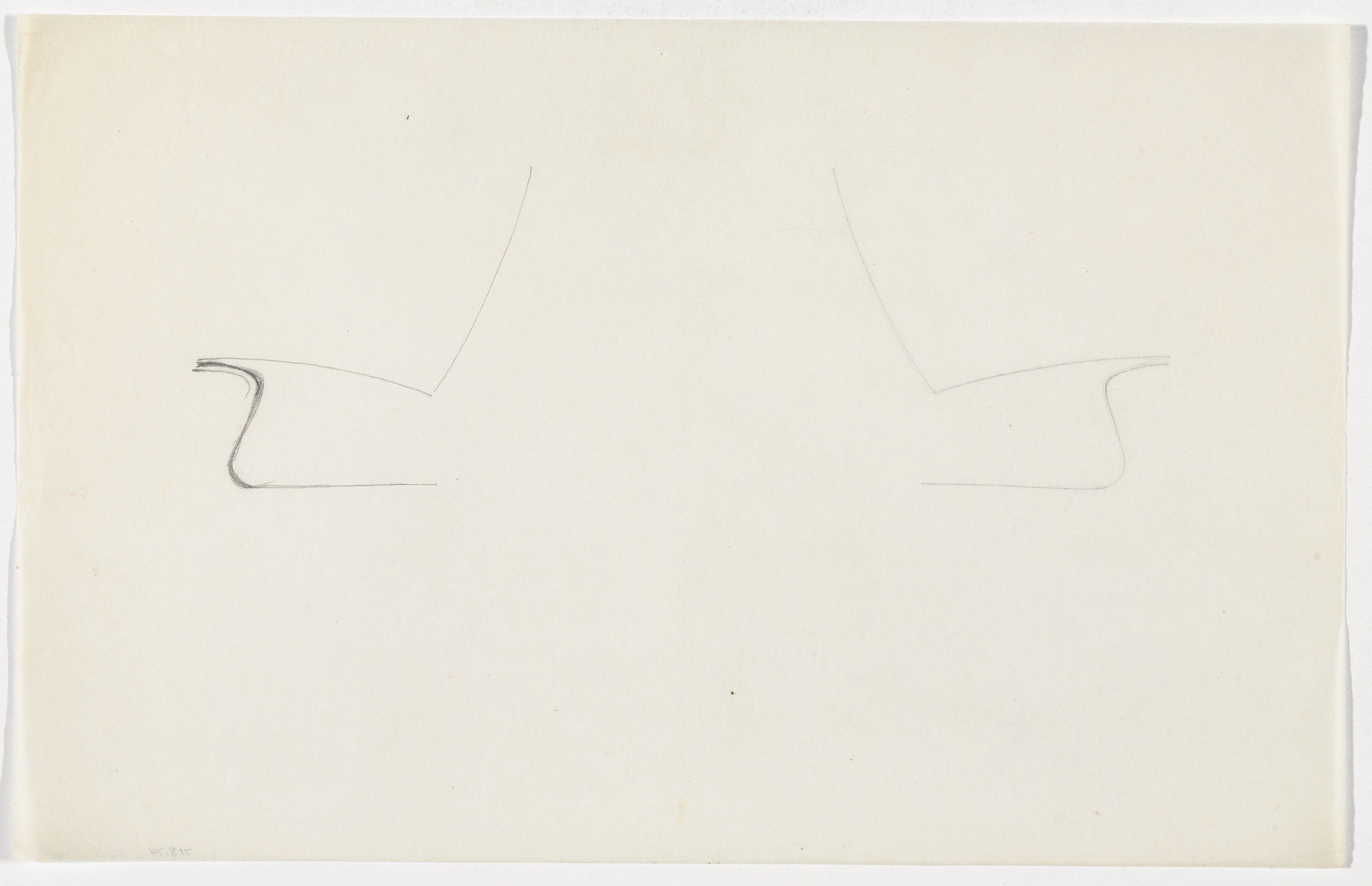 Ludwig Mies van der Rohe. Lounge Chair without Arms (similar to MR60) (Elevation sketch). c.1930