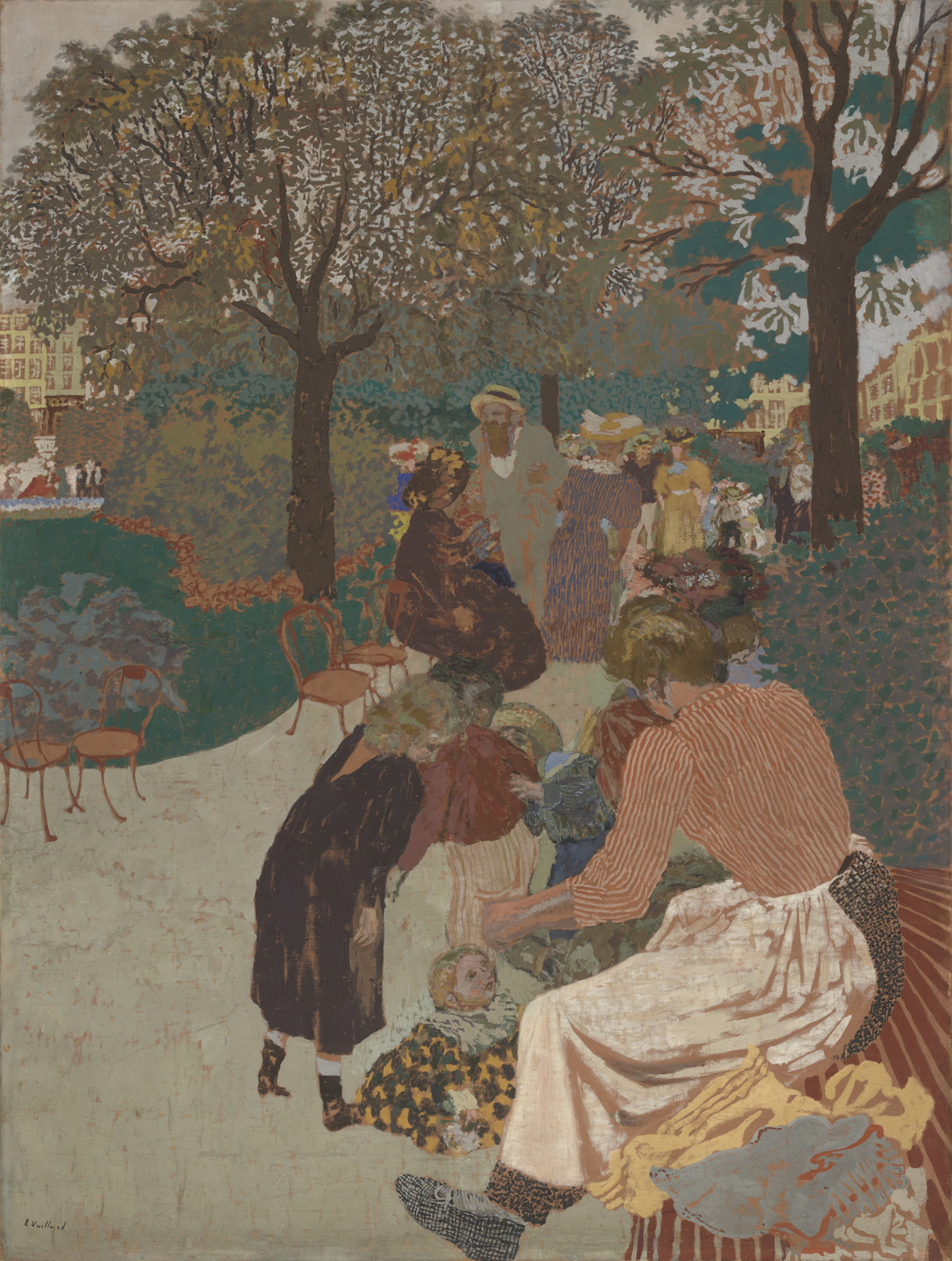 Édouard Vuillard. The Park. 1894 (reworked in 1908)