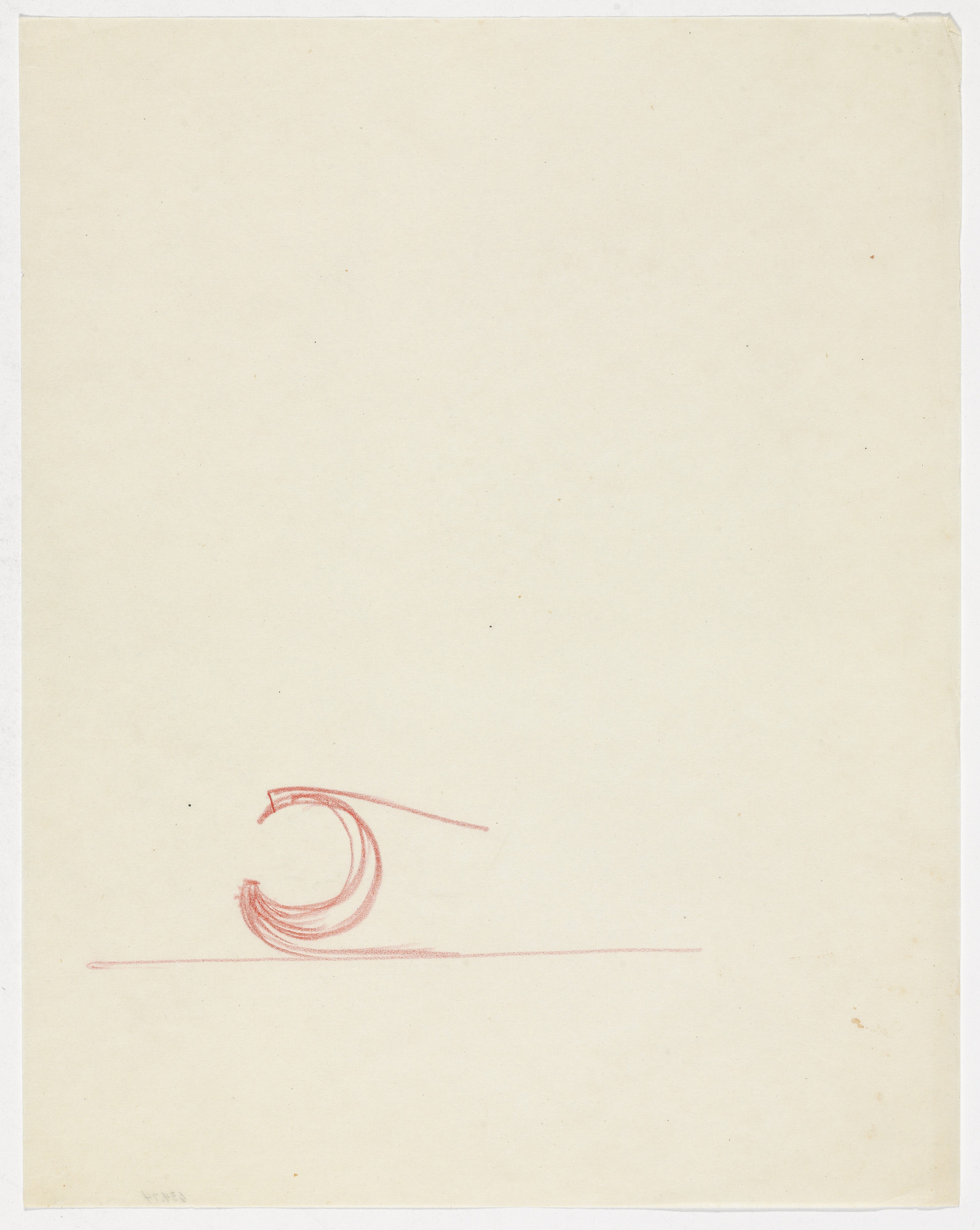 Ludwig Mies van der Rohe. Chair Frame Detail (Elevation sketch). 1934