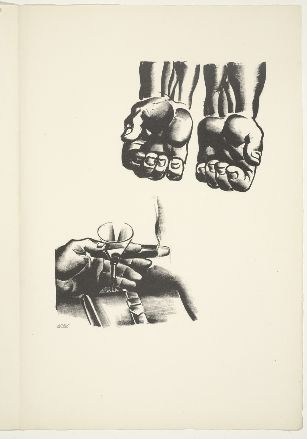 Hugo Gellert. Plate (folio 10) from 'Capital' in Pictures. 1933