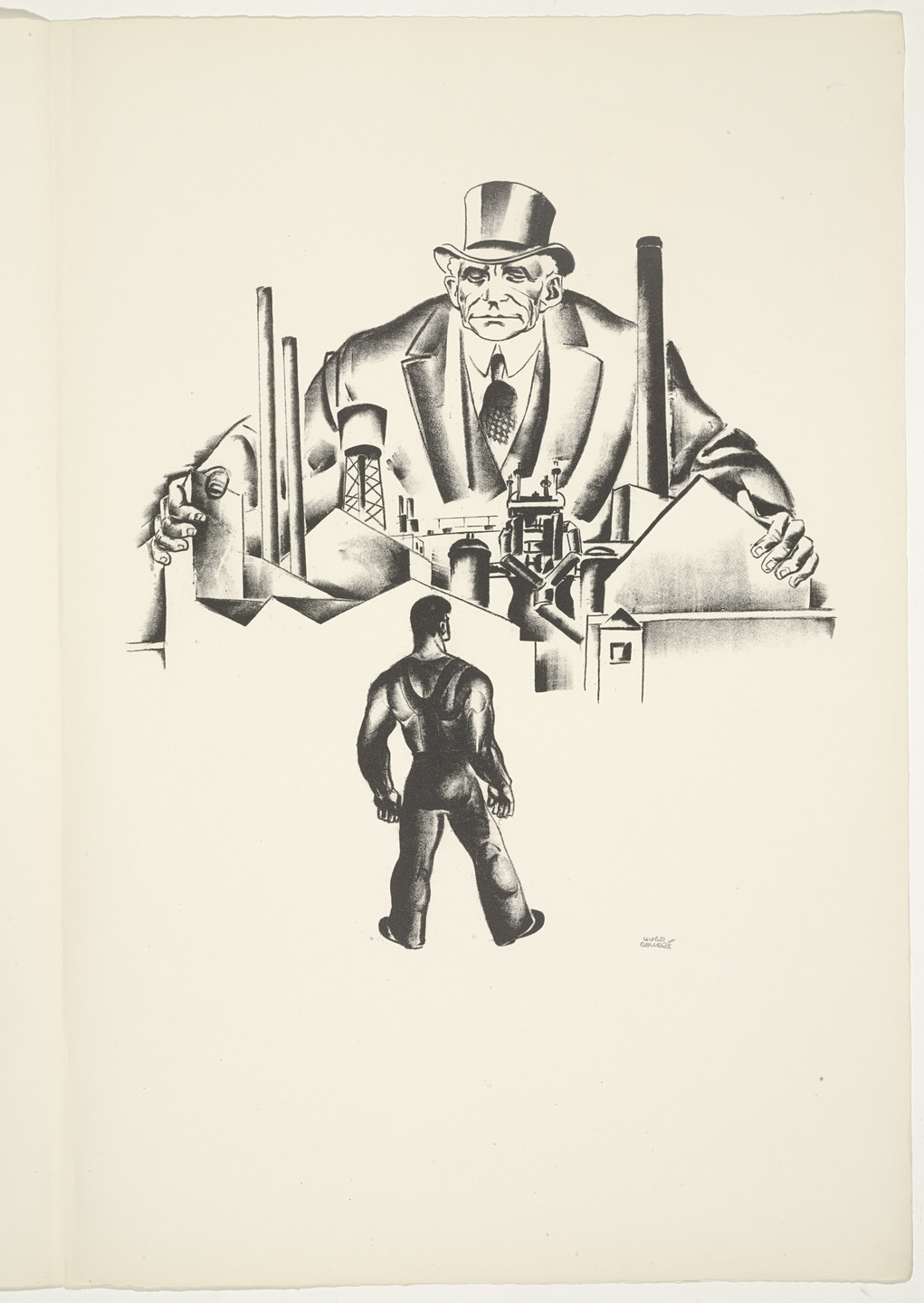 Hugo Gellert. Plate (folio 12) from 'Capital' in Pictures. 1933
