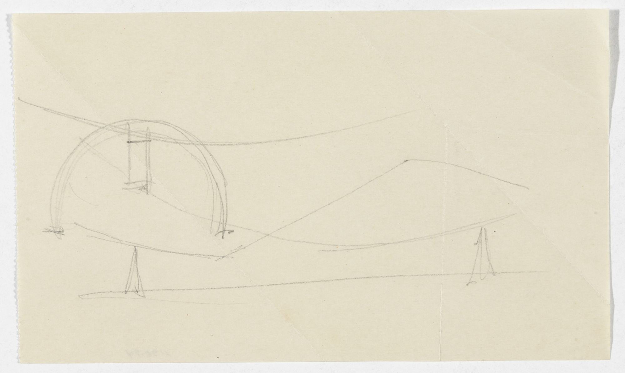 Ludwig Mies van der Rohe. Reclining Chair without Arms (Elevation sketches). 1934