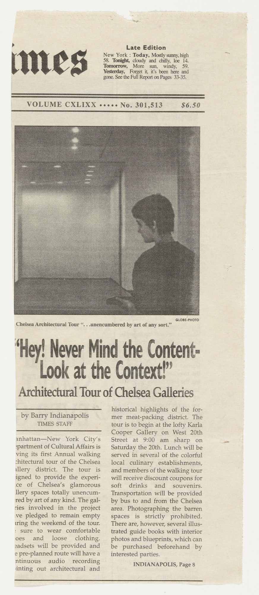 "Vik Muniz. ""Hey! Never Mind the Content - Look at the Context!"" from the series Personal Articles. 2000"