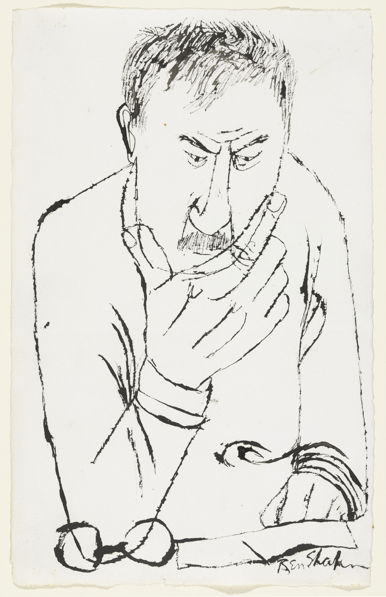 Ben Shahn. Self-Portrait. (1955)
