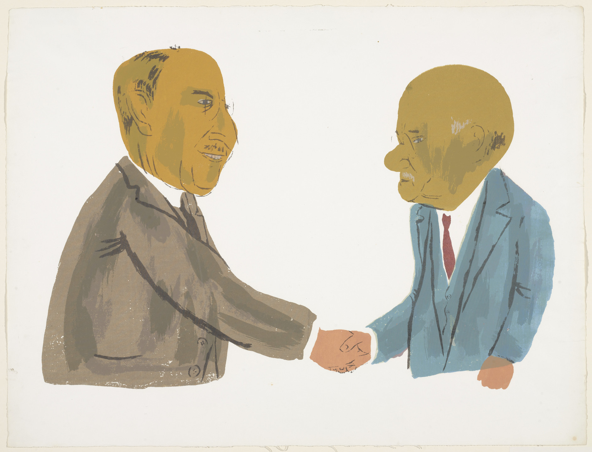 Ben Shahn. The Handshake. 1942