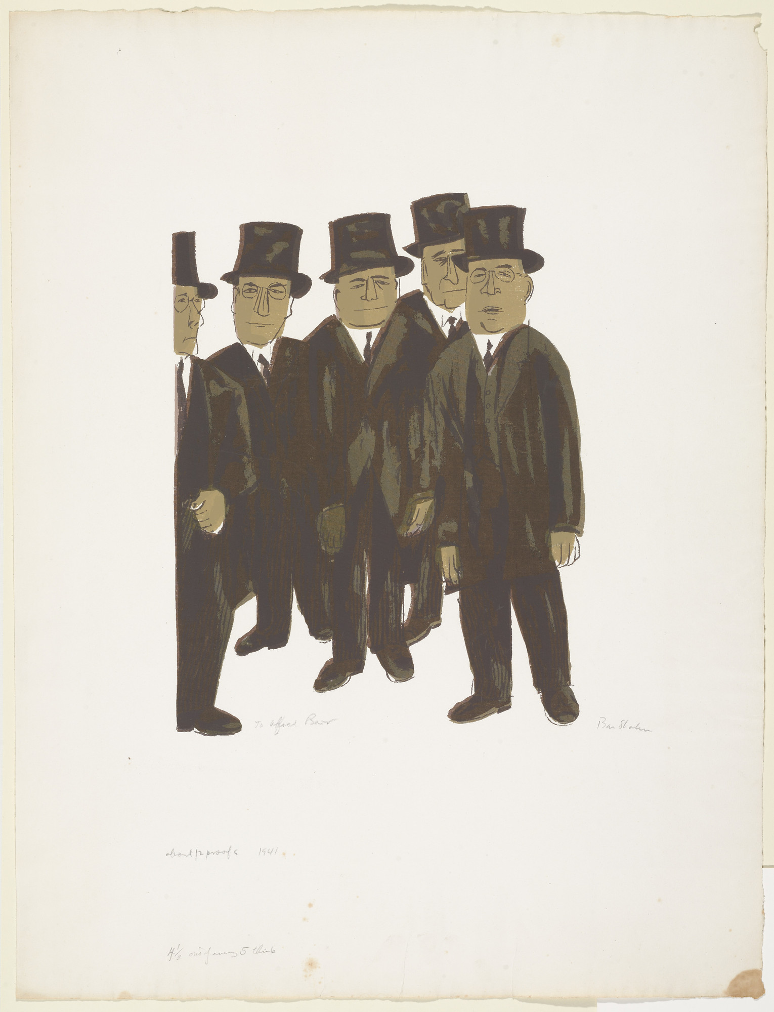 Ben Shahn. 4 1/2 Out of Every 5 Think. 1941
