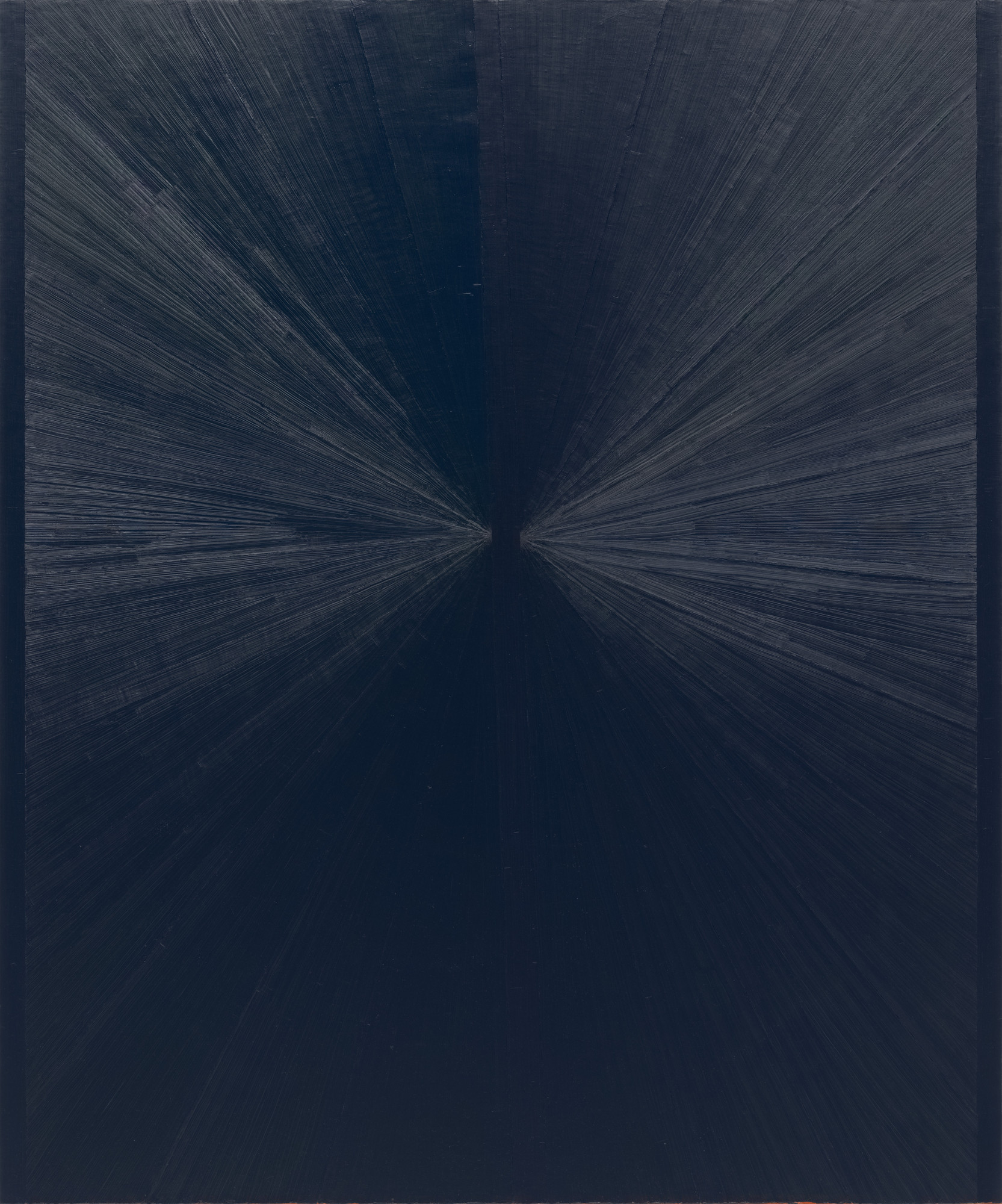 Mark Grotjahn. Untitled (Blue Painting Light to Dark VII). 2006