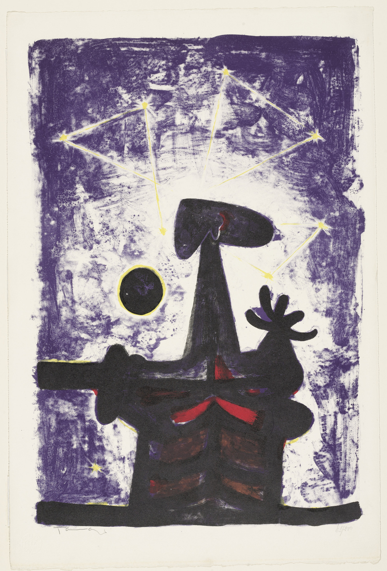 Rufino Tamayo. Man, Moon and Stars. 1950