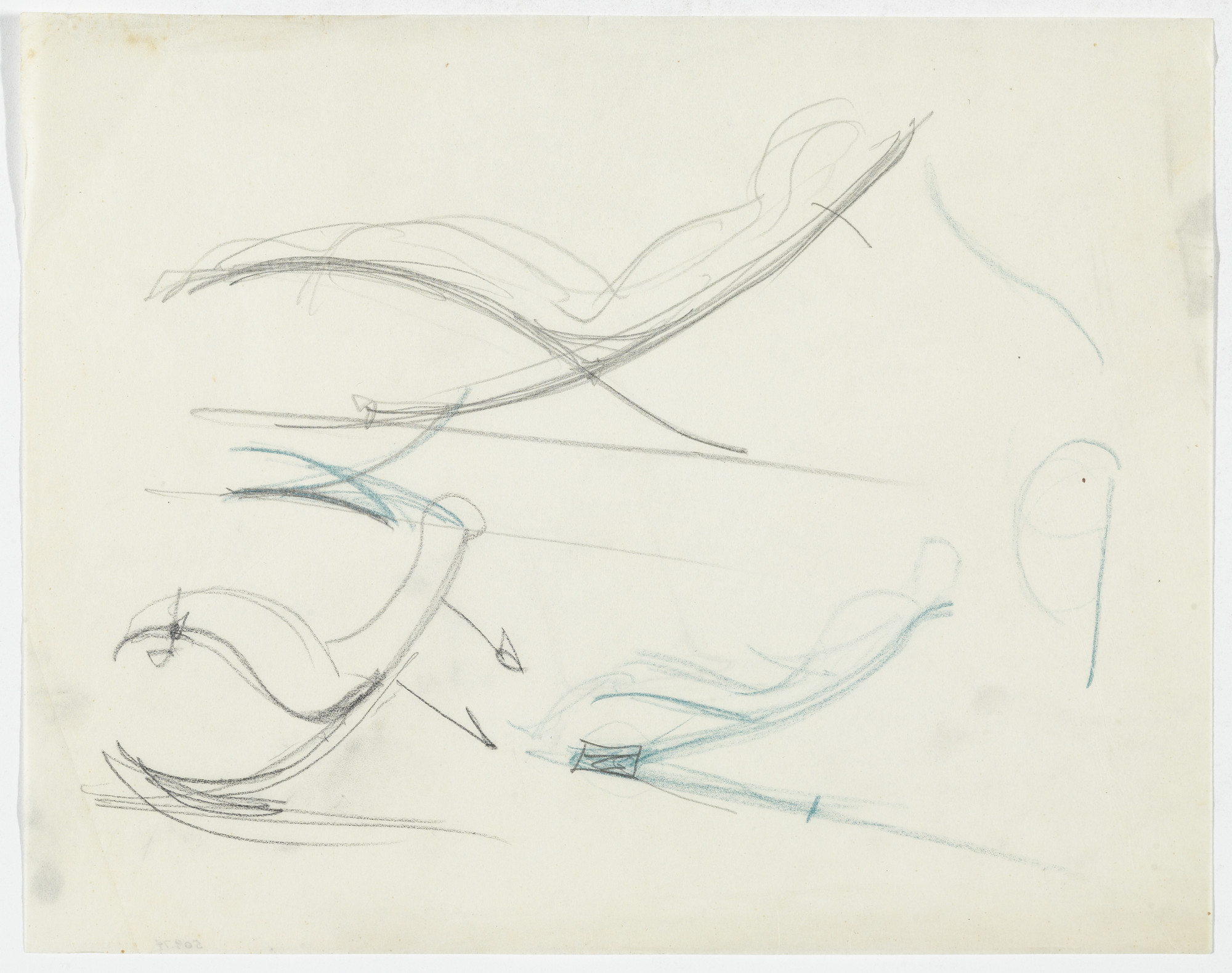 Ludwig Mies van der Rohe. Reclining Chair without Arms (Four elevation sketches). 1934