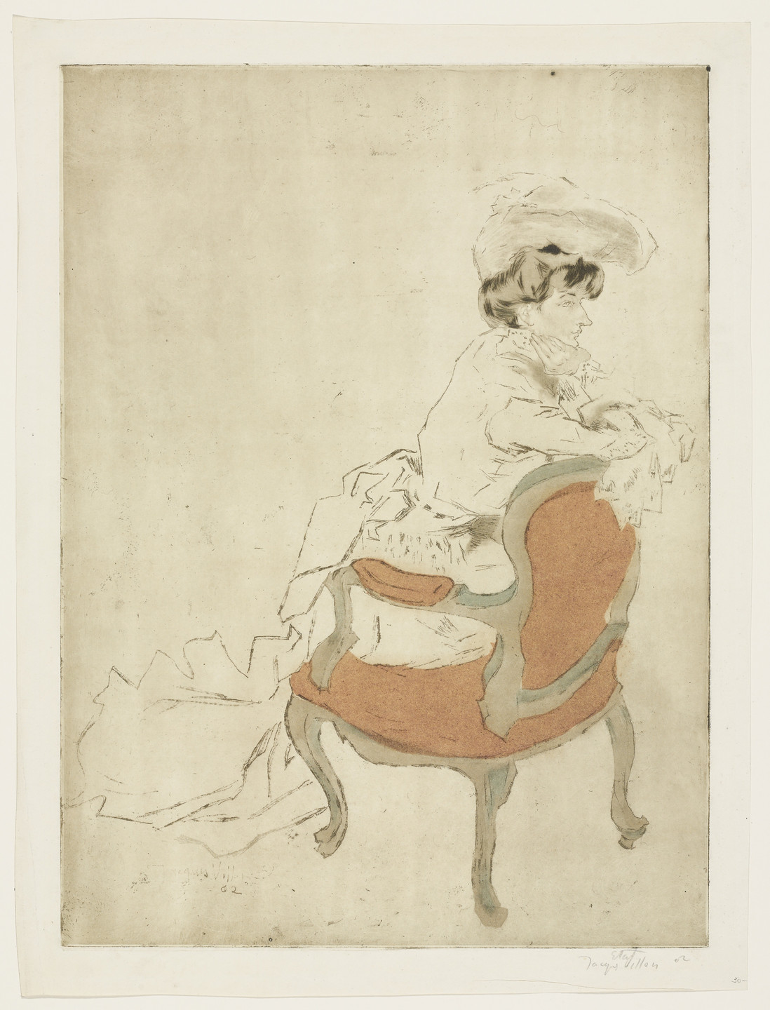 Jacques Villon. The Parisian, Turned to the Right (La Parisienne, tournée à droite). 1902