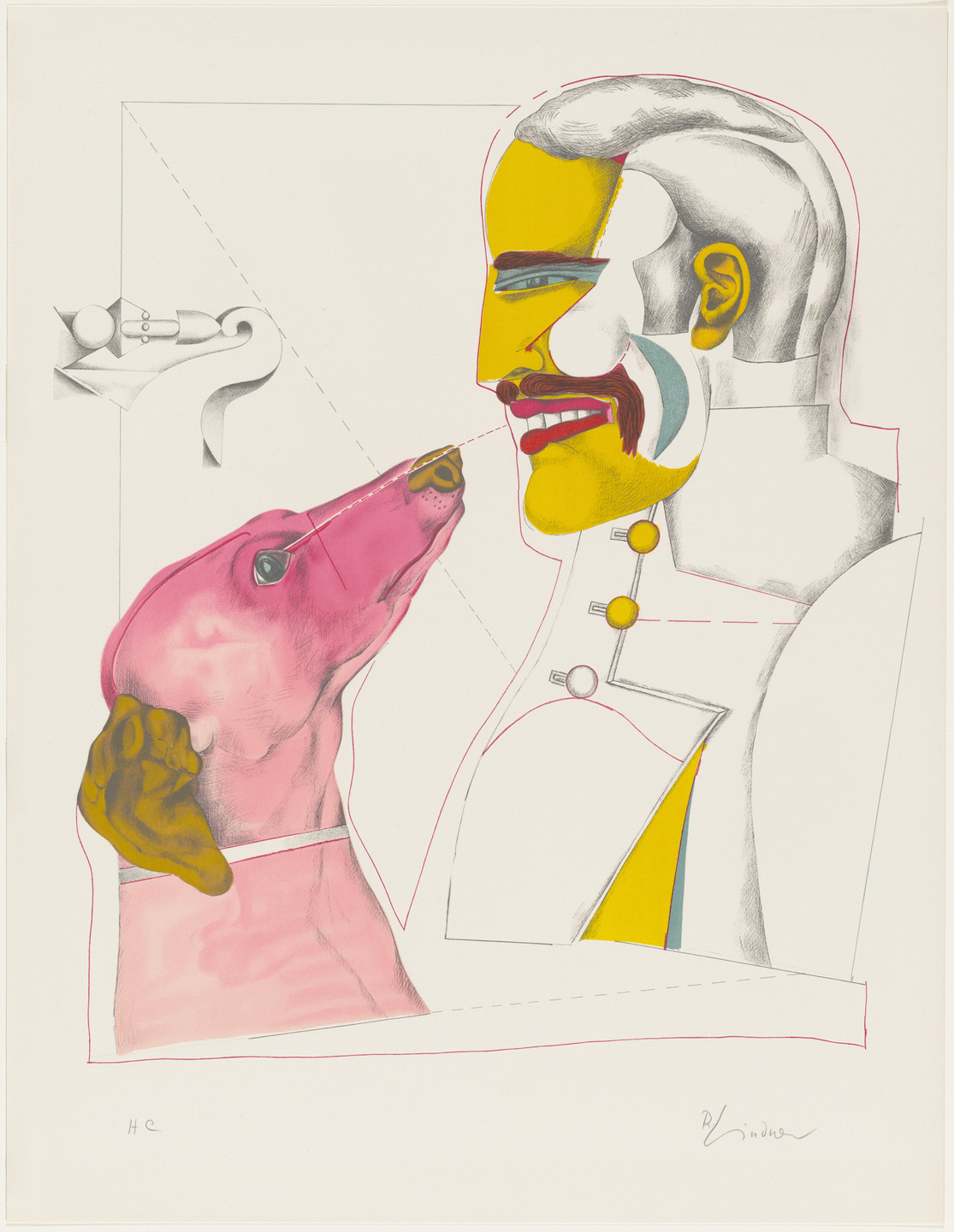Richard Lindner. Man's Best Friend from the series After Noon. 1970