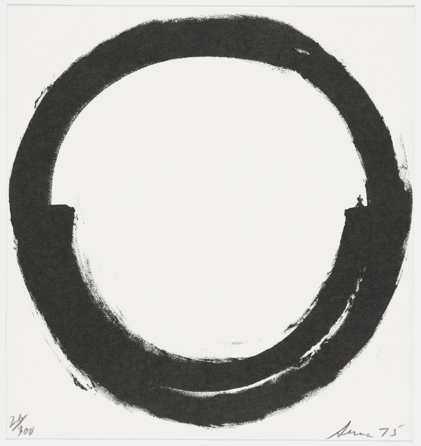 Richard Serra. Untitled from The New York Collection for Stockholm. 1973