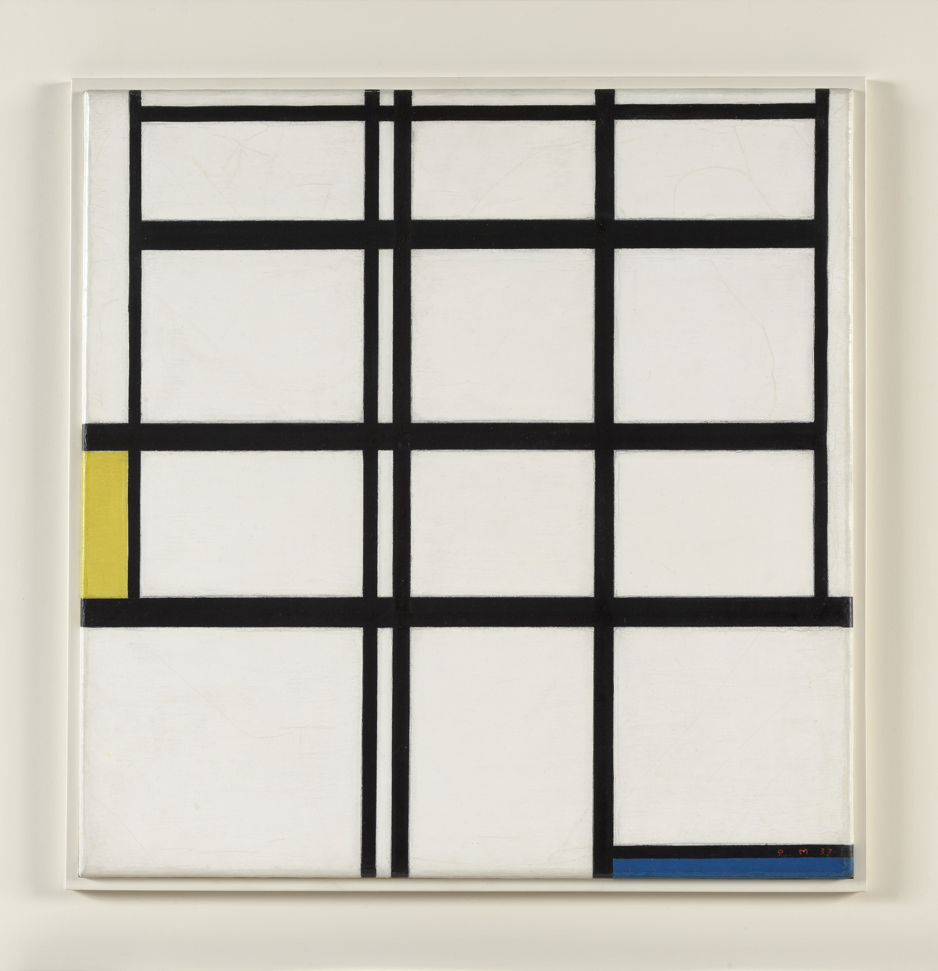 Piet Mondrian. Composition in Yellow, Blue, and White, I. 1937