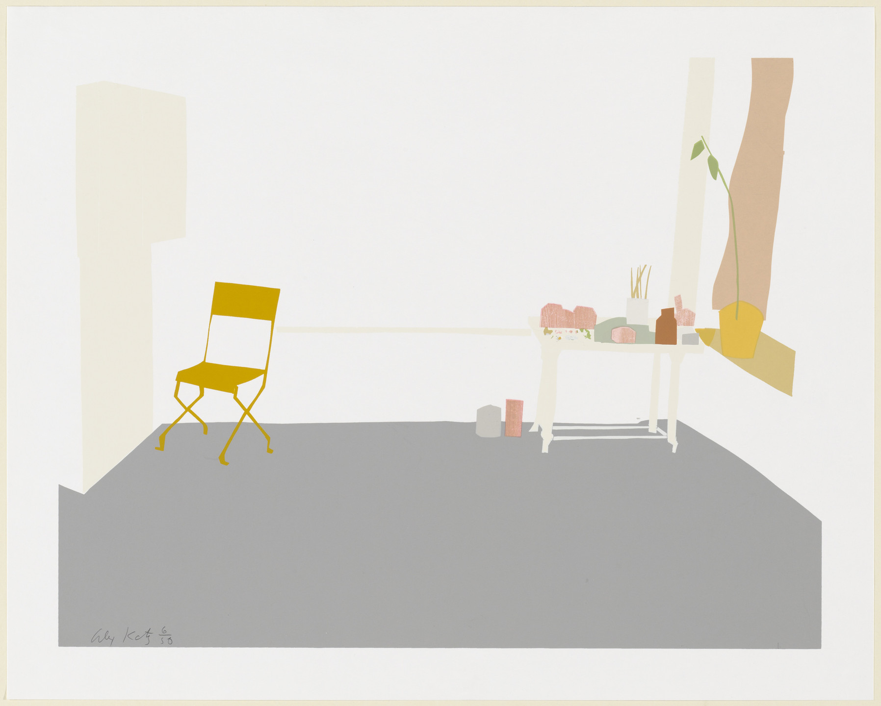 Alex Katz. Gray Interior. 1968