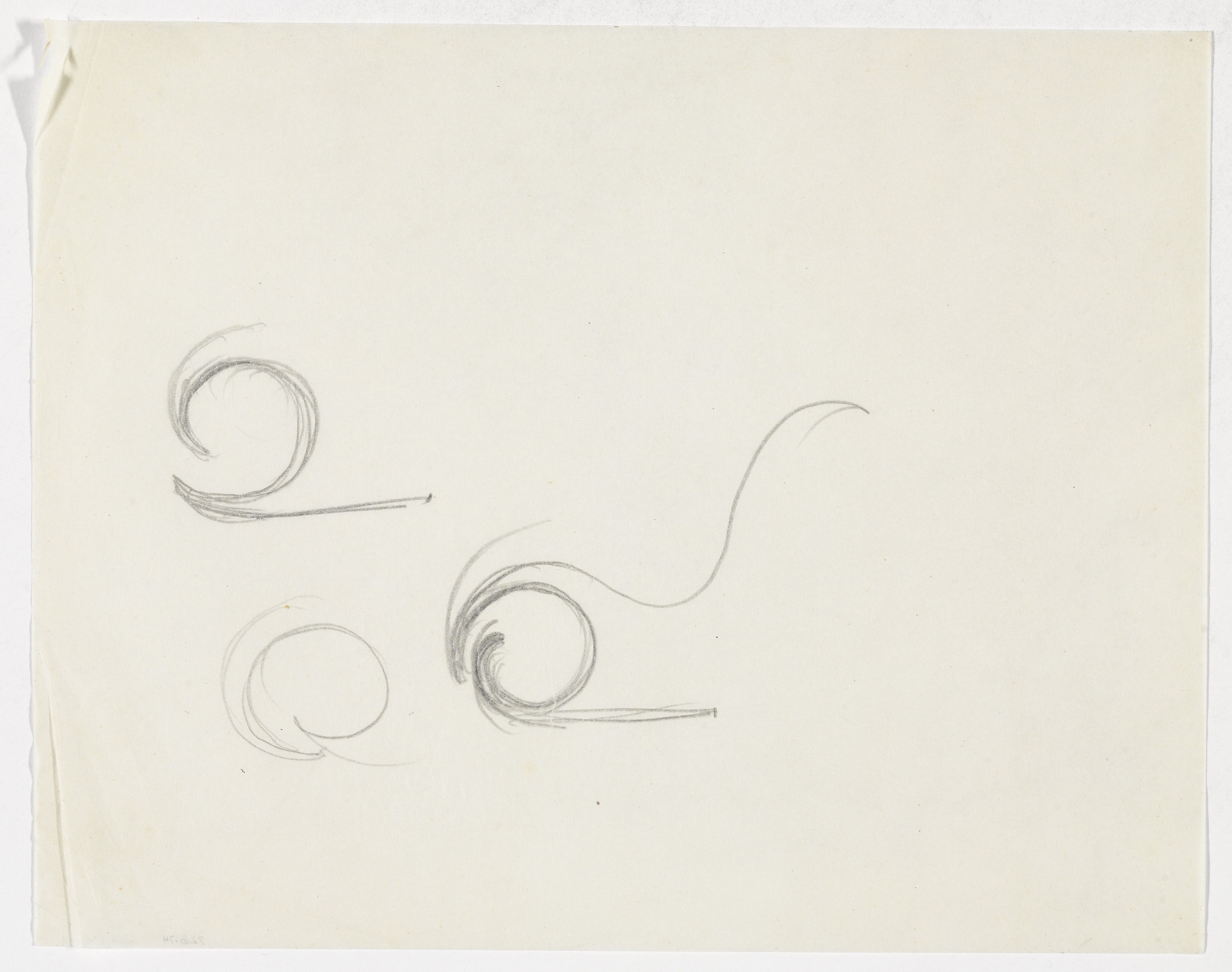 Ludwig Mies van der Rohe. Lounge Chair (Elevation sketches). 1933-1934