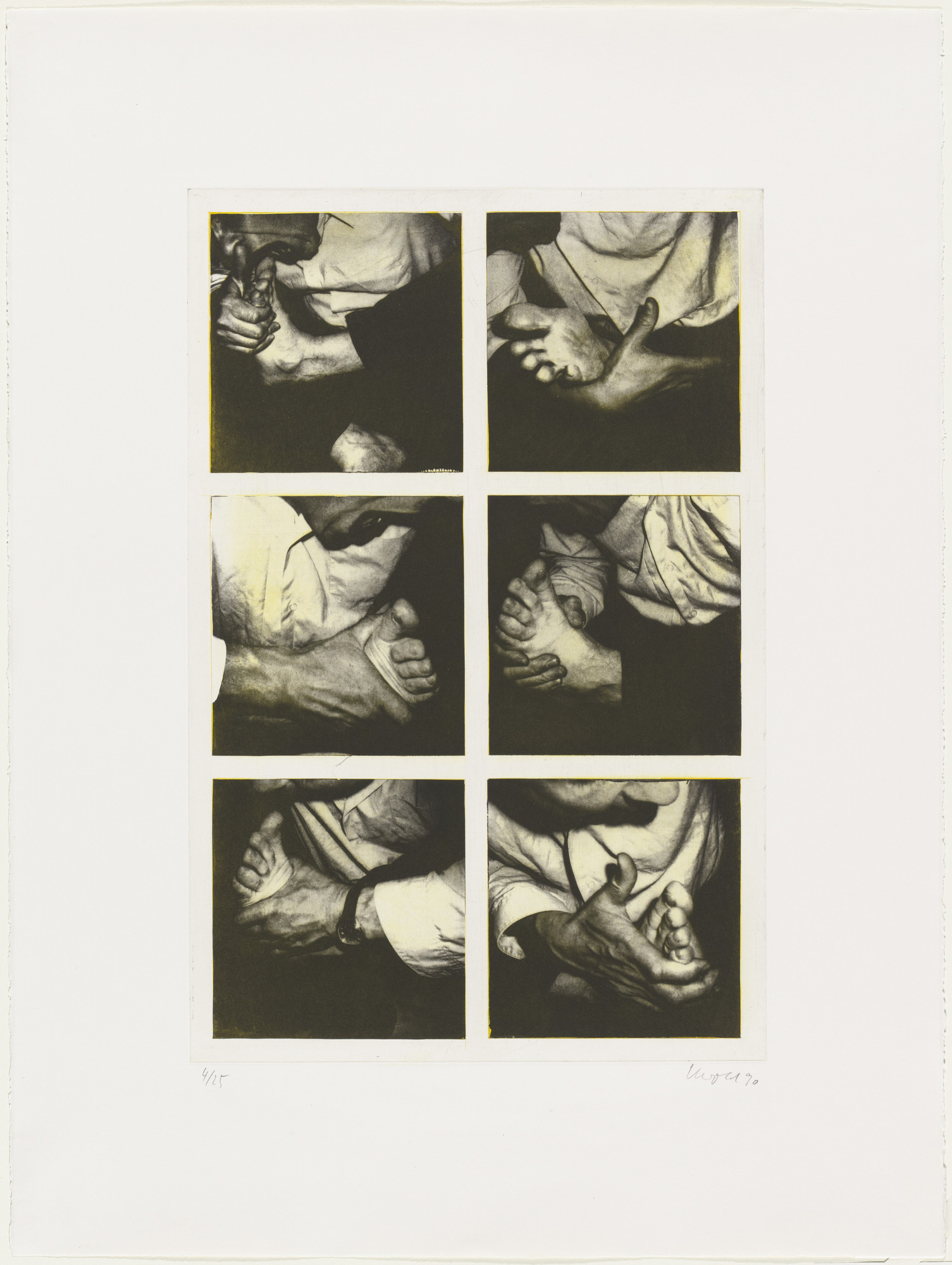 Georg Herold. Hand and Foot. 1990