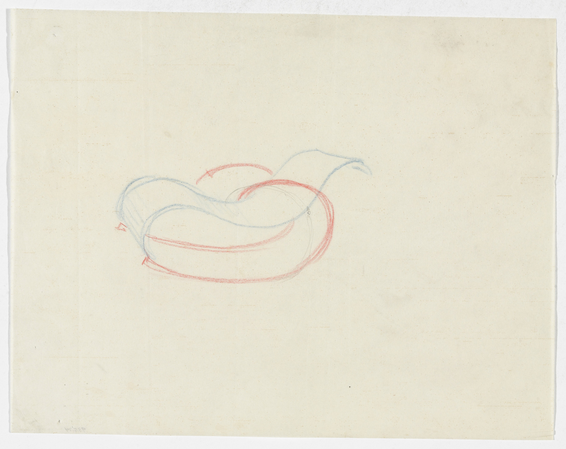 Ludwig Mies van der Rohe. Reclining Chair with Arms and Rocker (Perspective sketch). 1934