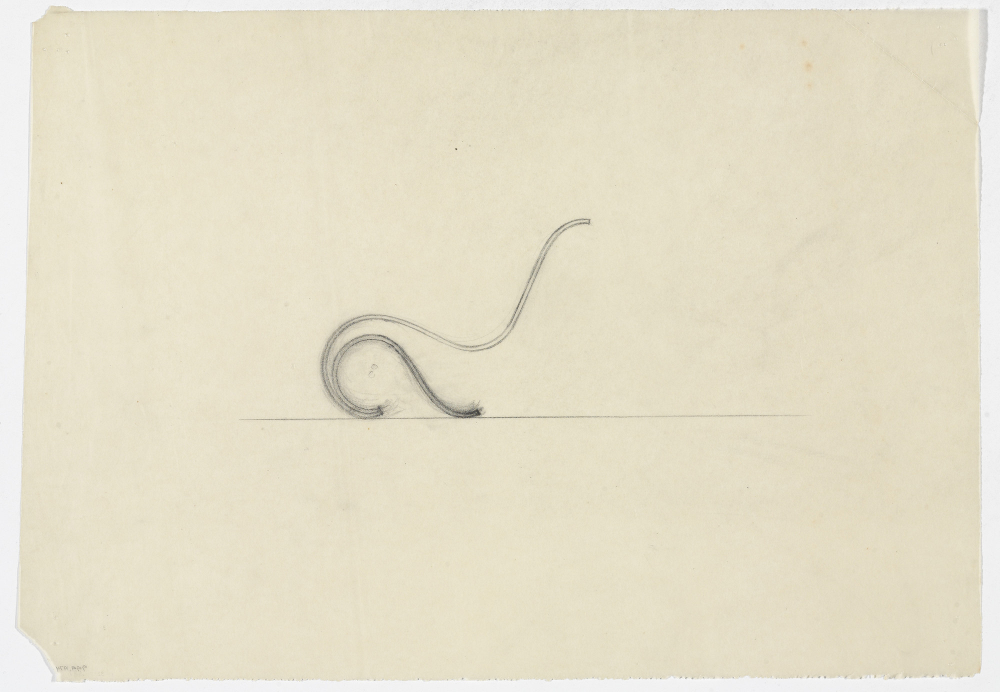 Ludwig Mies van der Rohe. Lounge Chair without Arms (Elevation sketch). 1933-1934