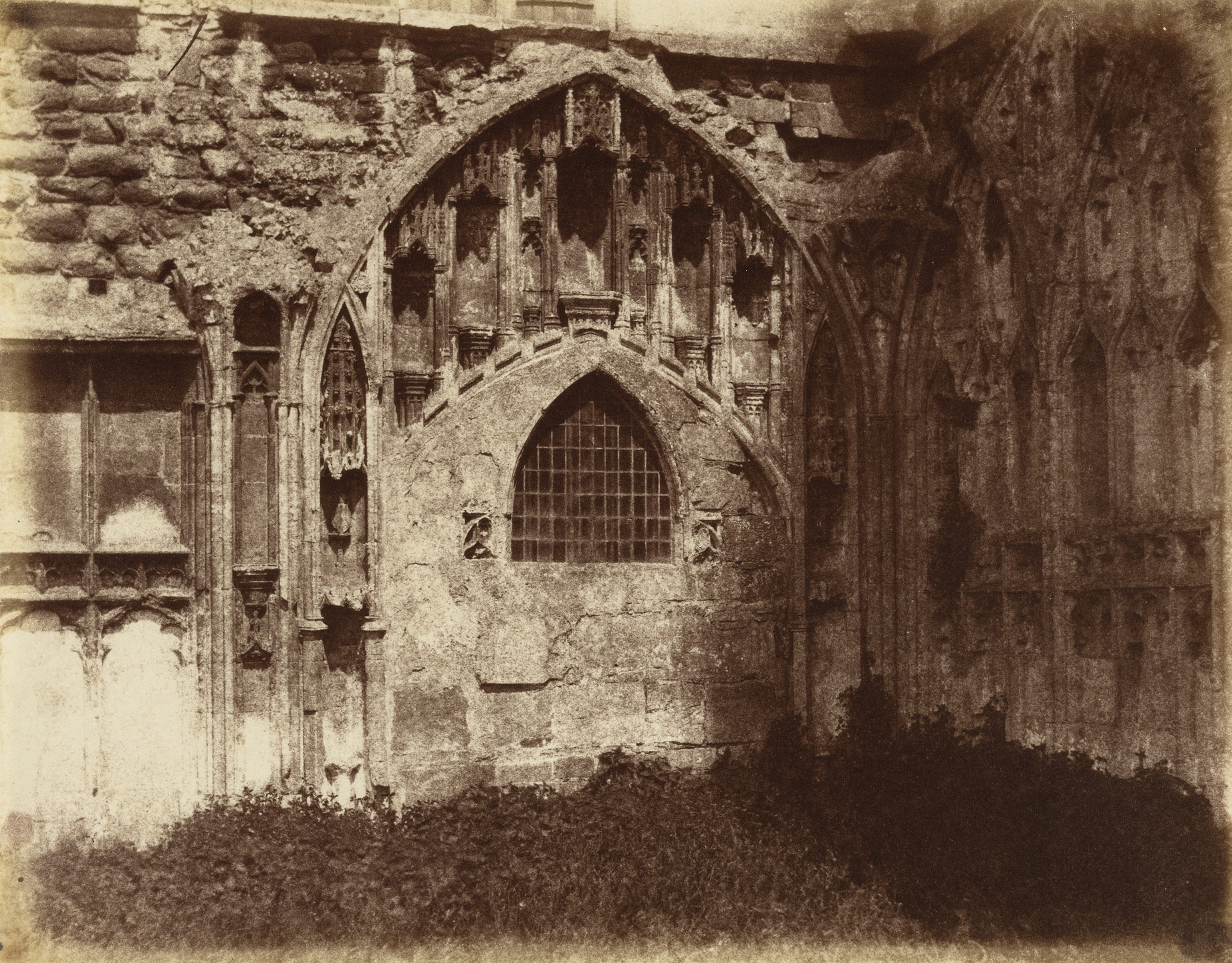 Alfred Capel Cure. Ancient Entrance to Cloisters, Tewkesbury. 1859