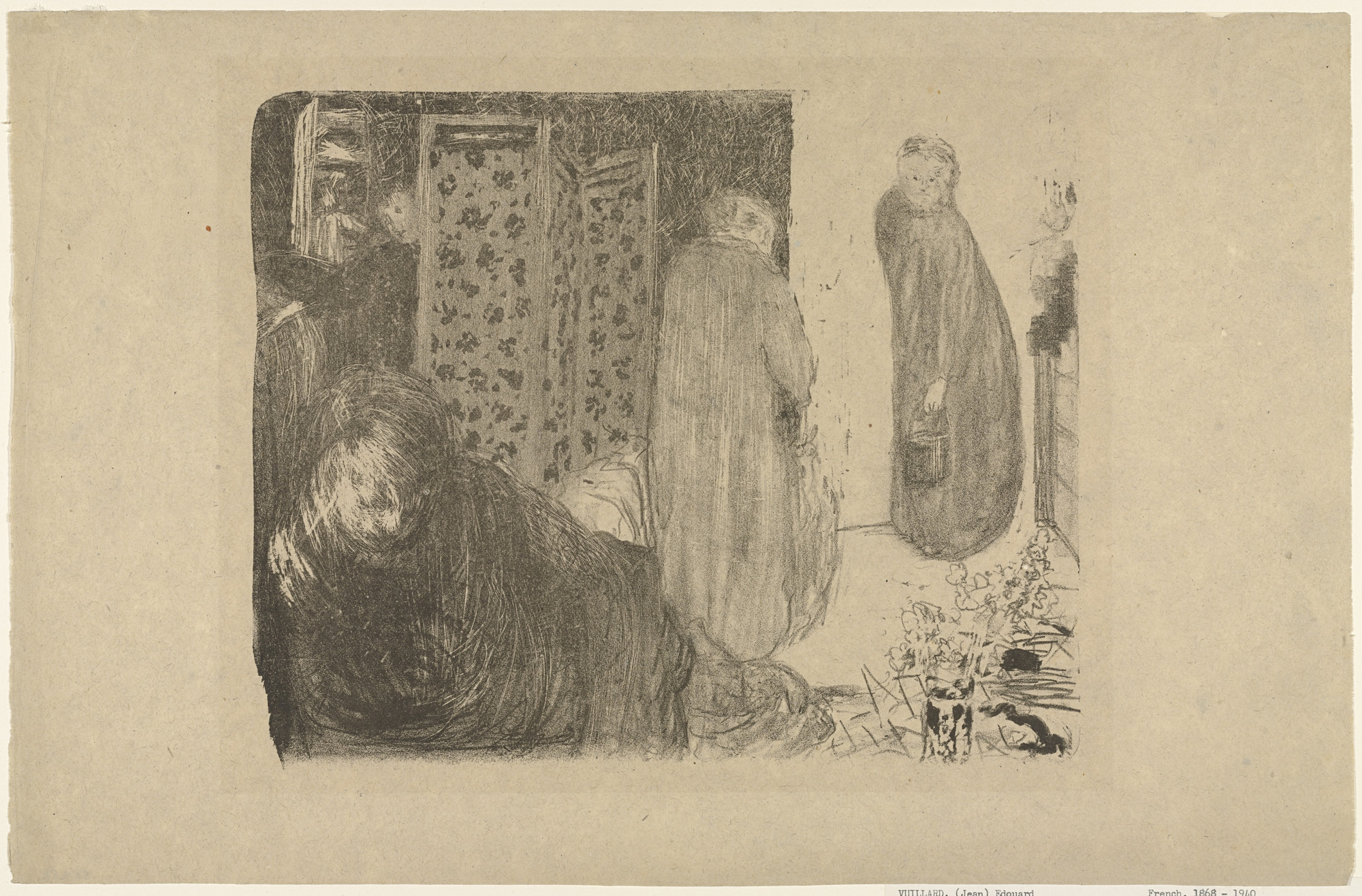Édouard Vuillard. Interior with a Screen (L'Intérieur au paravent). c. 1893