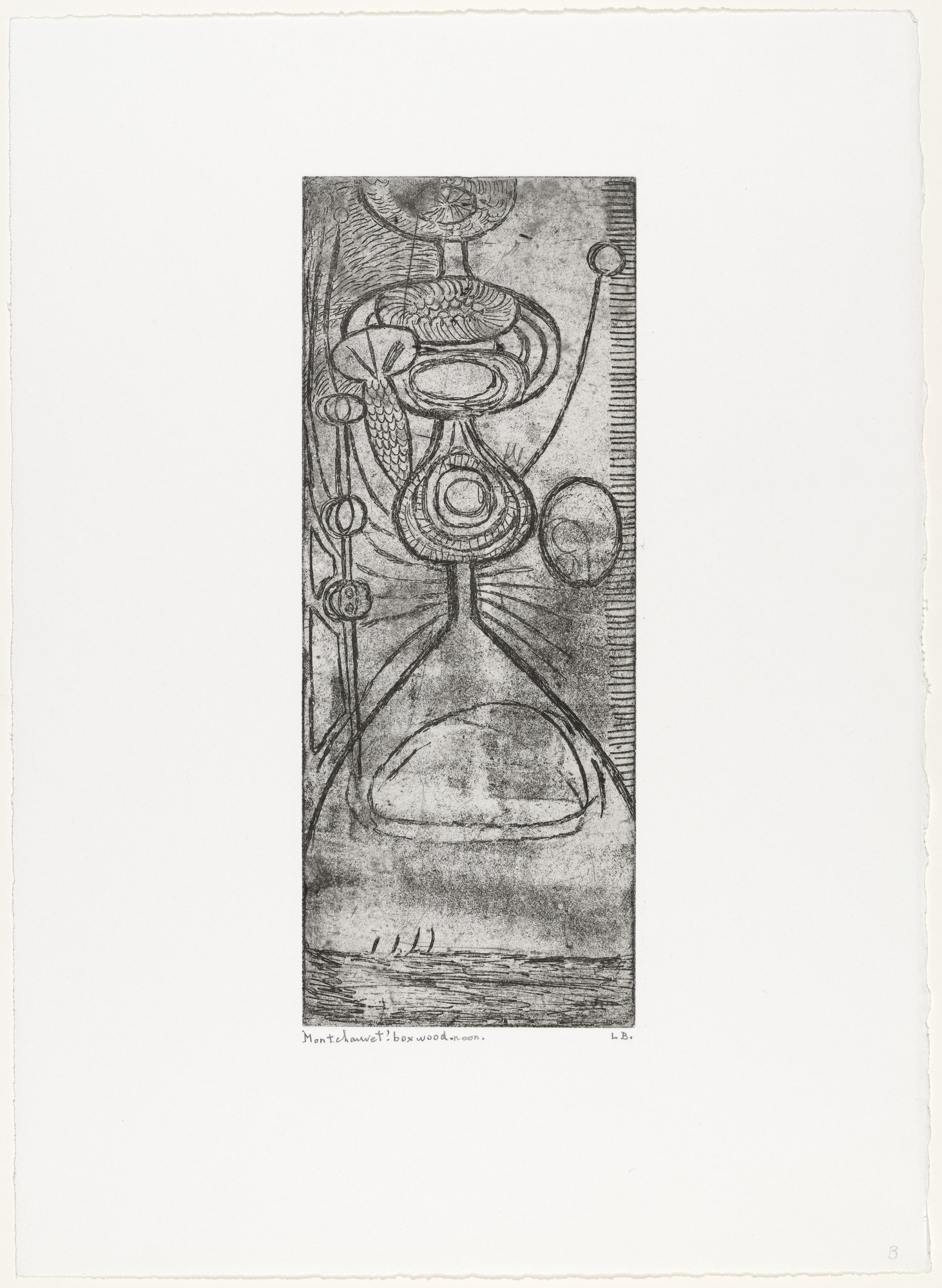 Louise Bourgeois. Boxwood Noon. c. 1945, reprinted 1990
