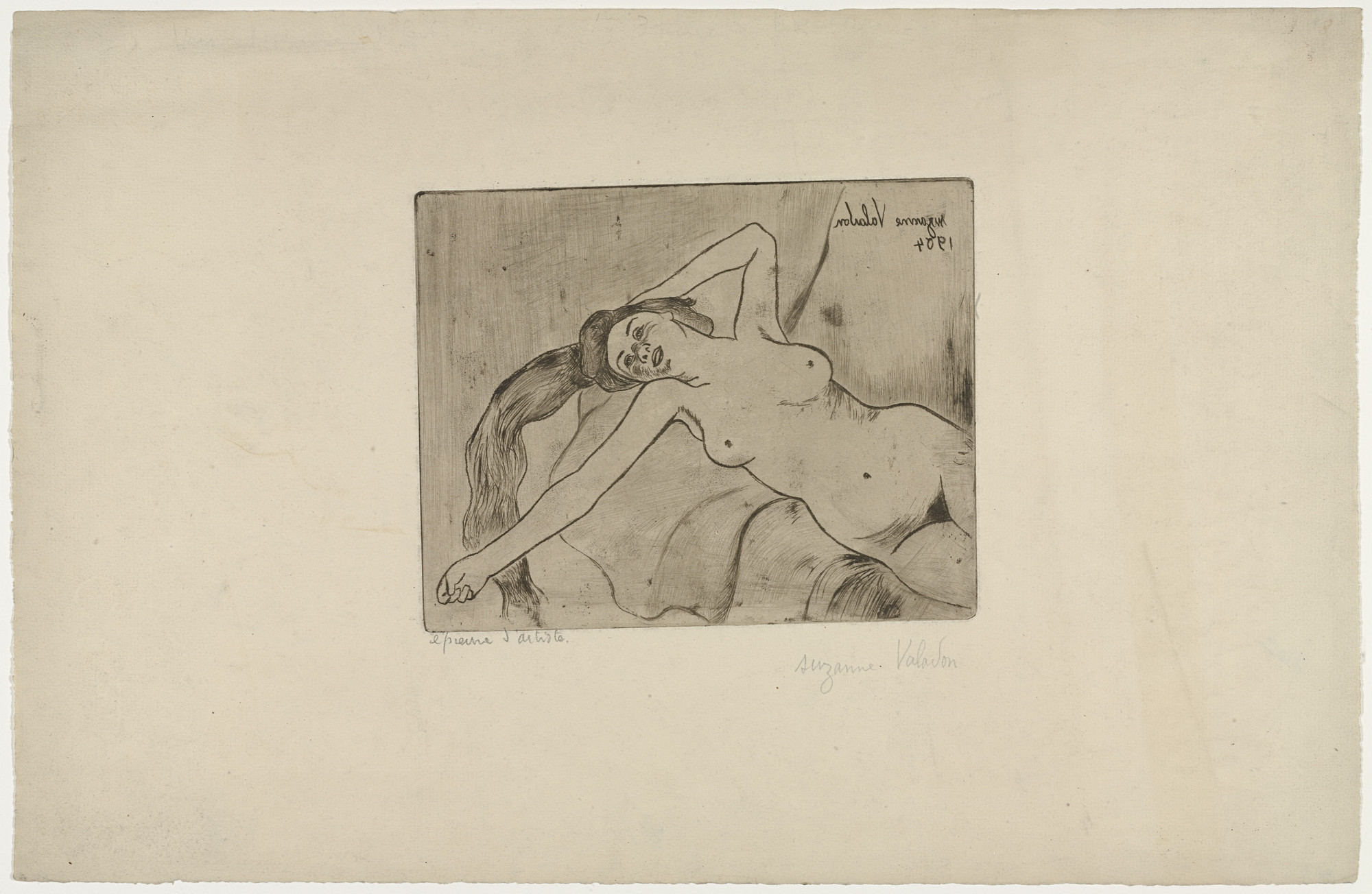Suzanne Valadon. Ketty Stretching (Ketty s'étirant). 1904