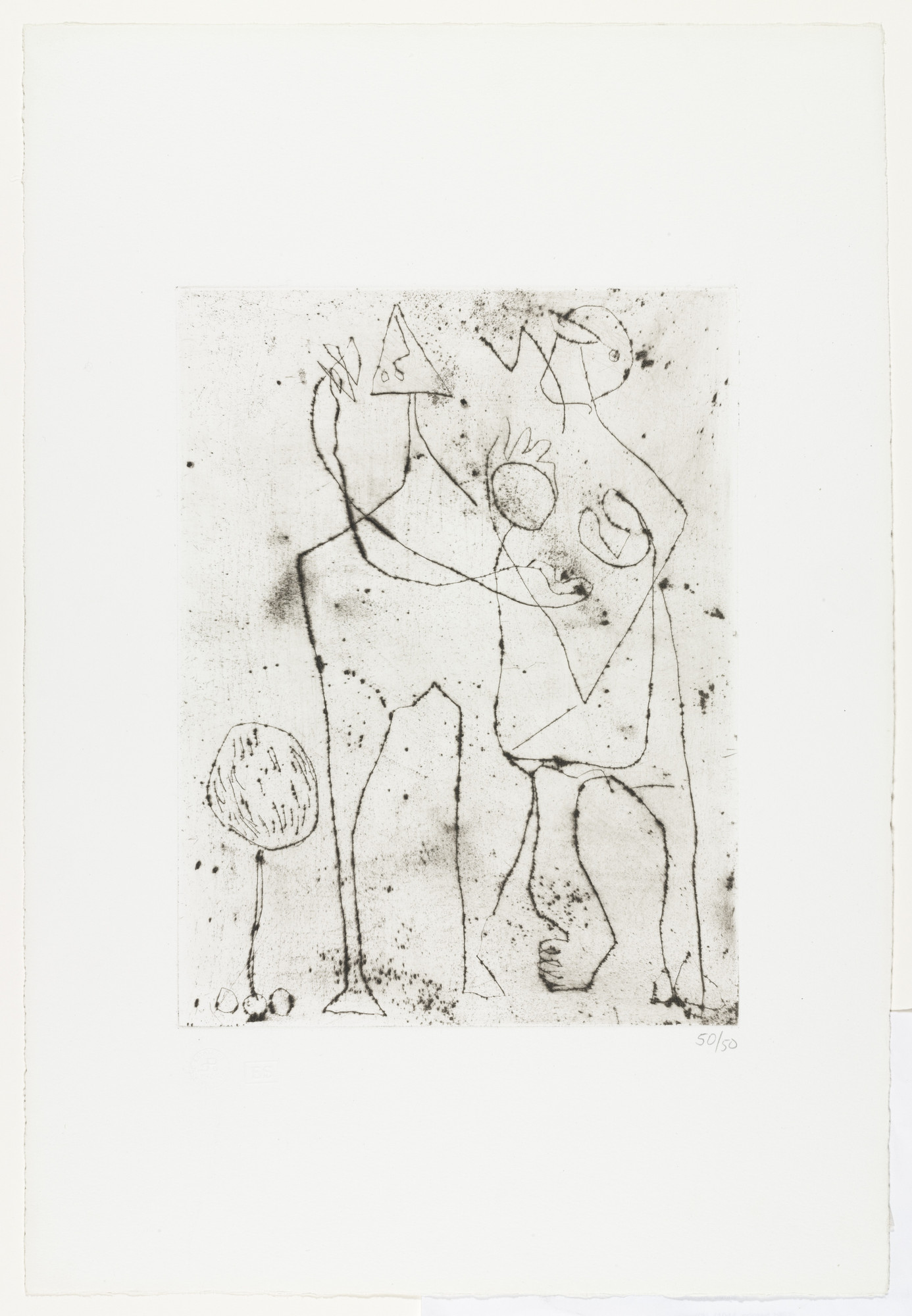 Jackson Pollock. Untitled (3). c. 1944, printed in 1967