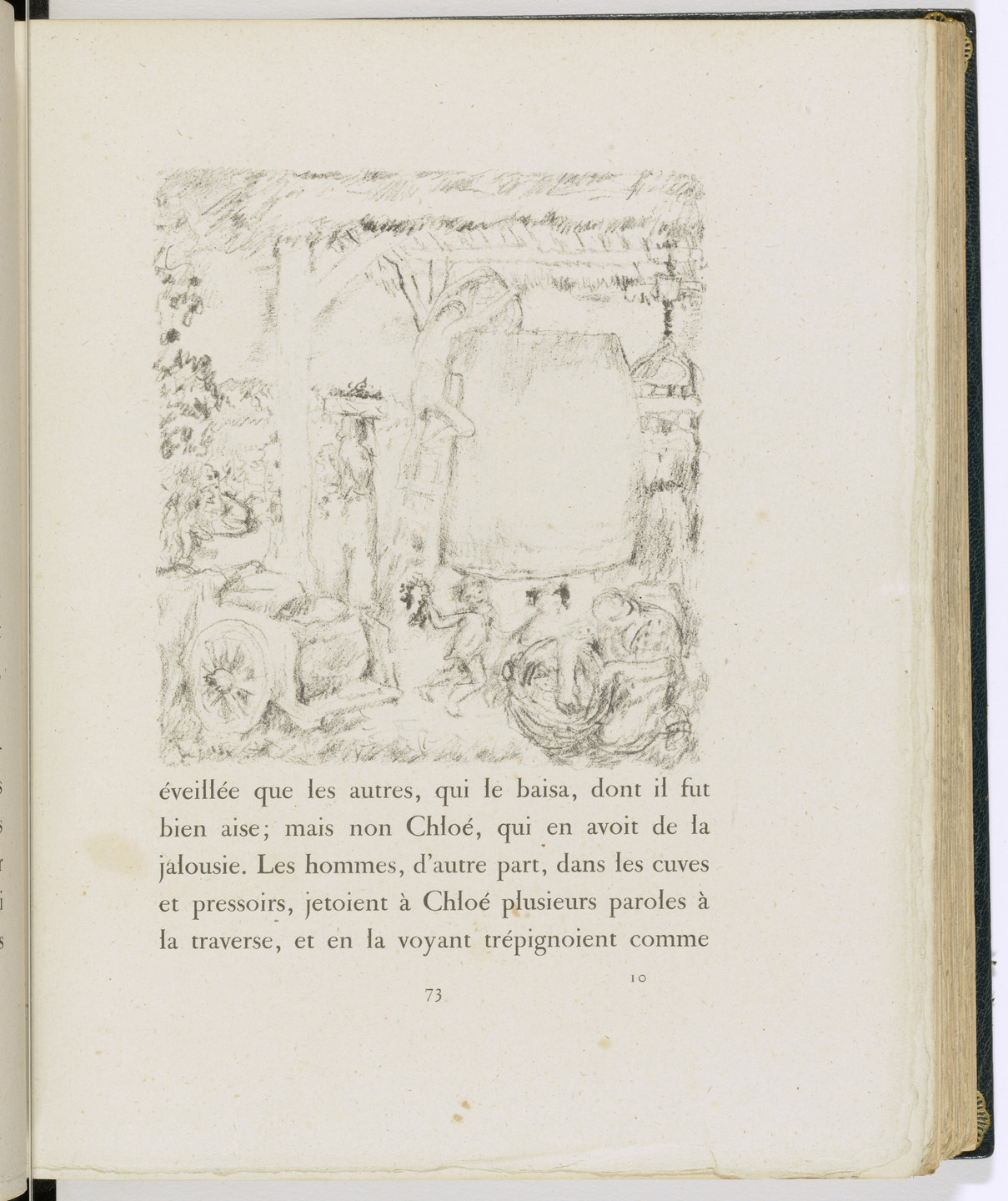 Pierre Bonnard. In-text plate (page 73) from Daphnis et Chloé. 1902